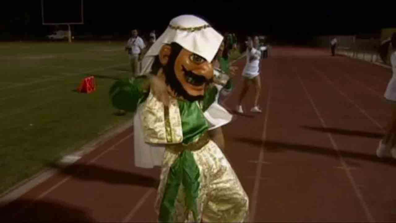 Coachella Valley High School's former Arab mascot is seen in this undated file photo.