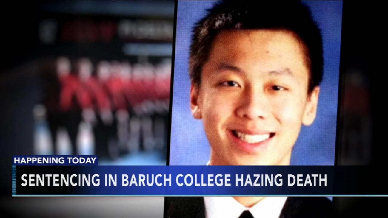 4 men, frat face sentencing in Baruch College hazing death