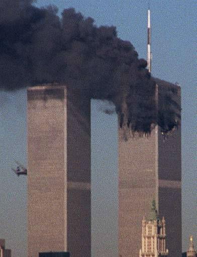 <div class='meta'><div class='origin-logo' data-origin='none'></div><span class='caption-text' data-credit='AP Photo/ MOSHE BURSURKER'>A jet crashes into the World Trade Center in New York, Tuesday, Sept. 11, 2001.</span></div>