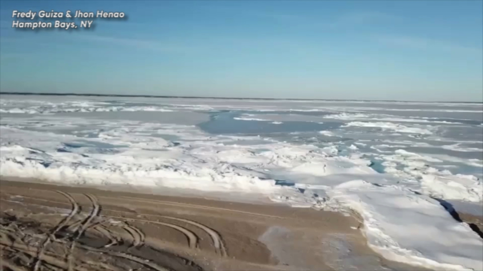 Video: Drone Captures Unique View Of Frozen Great Peconic