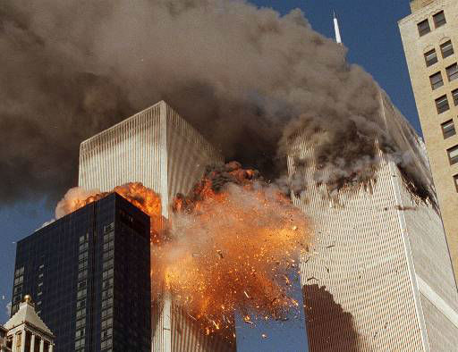 <div class='meta'><div class='origin-logo' data-origin='none'></div><span class='caption-text' data-credit='AP Photo/ CHAO SOI CHEONG'>Smoke billows from one of the towers of the World Trade Center and flames and debris explode from the second tower, Tuesday, Sept. 11, 2001.</span></div>