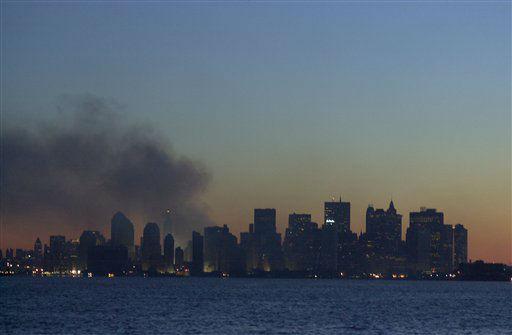 <div class='meta'><div class='origin-logo' data-origin='none'></div><span class='caption-text' data-credit='AP Photo/ Mark Lennihan'>The New York City skyline on the evening of September 17, 2001 after the September 11 terrorist attacks on the World Trade Center in New York City.</span></div>