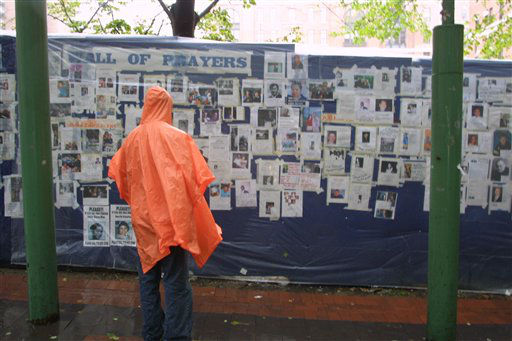<div class='meta'><div class='origin-logo' data-origin='none'></div><span class='caption-text' data-credit='AP Photo/ Robert Spencer'>A woman looks at missing person posters of victims of the September 11 terrorist attacks on the World Trade Center in New York City on Sept. 14, 2001.</span></div>