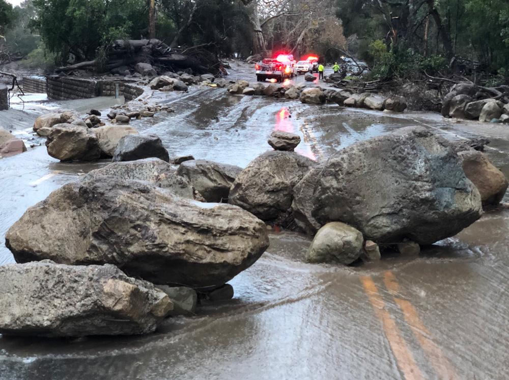 <div class='meta'><div class='origin-logo' data-origin='none'></div><span class='caption-text' data-credit='EliasonMike/Twitter'>&#34;Scene from the 300 block of Hot Springs Road in Montecito following debris and mud flow due to heavy rain.&#34;</span></div>
