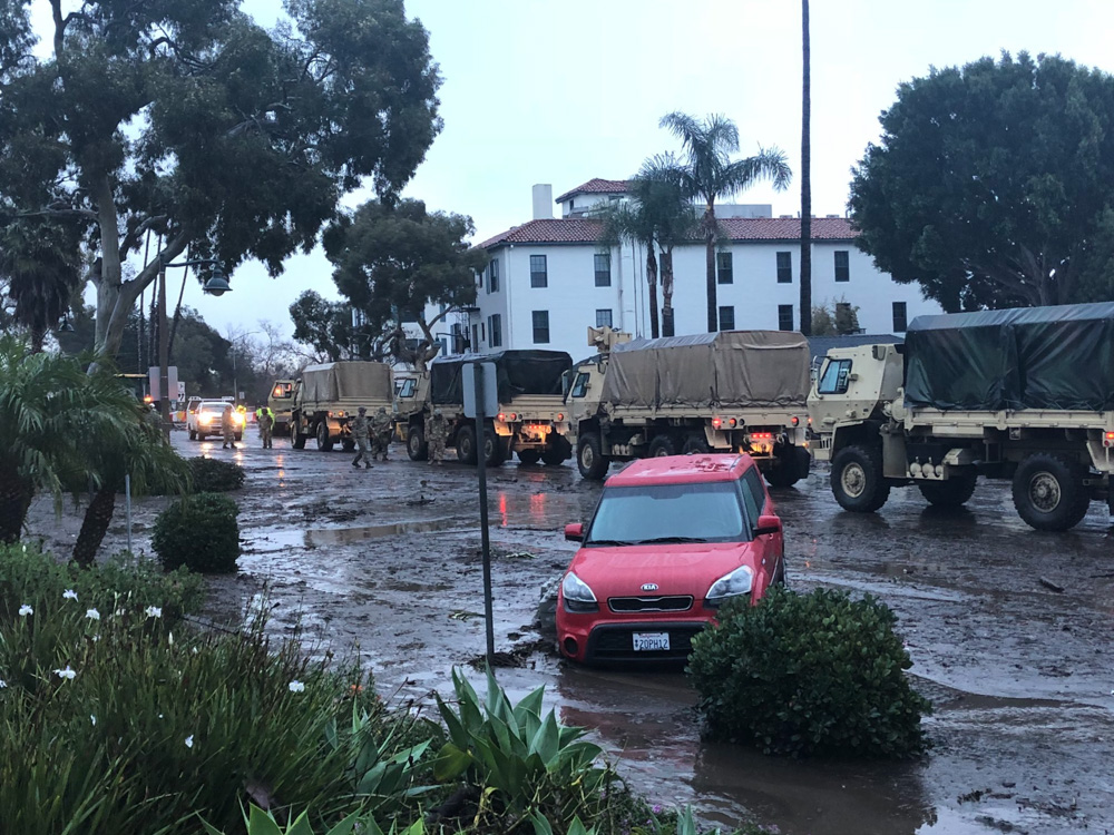 "<div class=""meta image-caption""><div class=""origin-logo origin-image none""><span>none</span></div><span class=""caption-text"">""The national guard on Coast Village Road.  Grateful for our first responders"" (Marshalltm/Twitter)</span></div>"