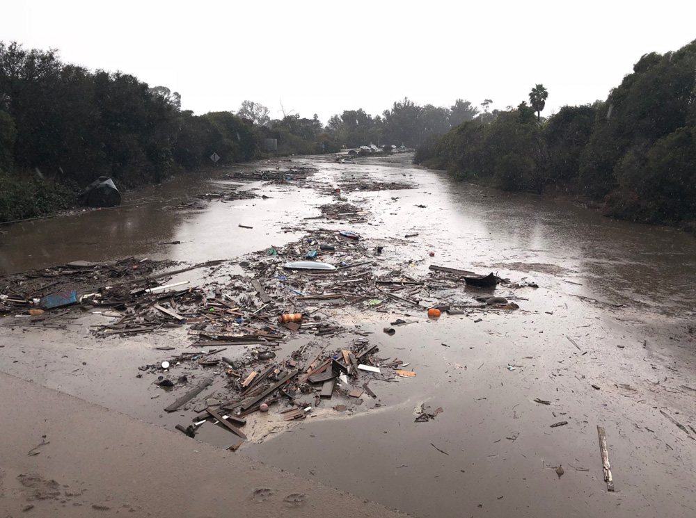 <div class='meta'><div class='origin-logo' data-origin='none'></div><span class='caption-text' data-credit='@EliasonMike/Twitter'>&#34;The US 101 Freeway at the Olive Mill Road overpass flooded with runoff water from Montecito Creek.&#34;</span></div>