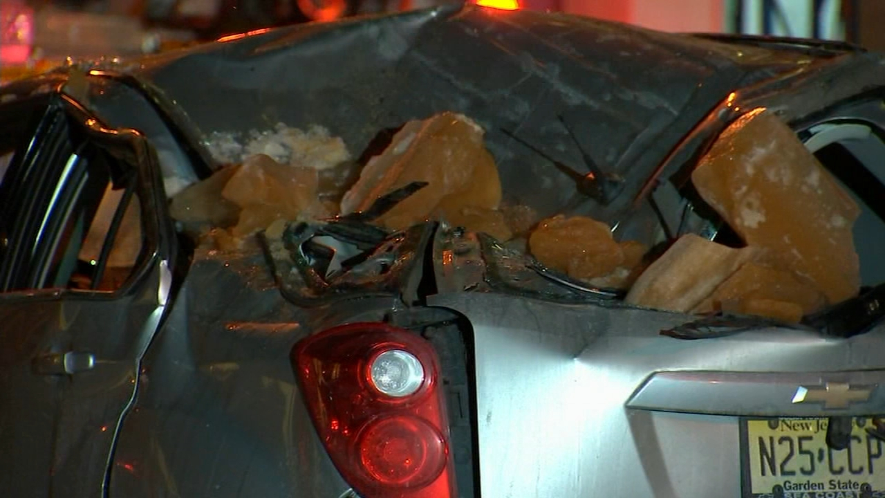 Large chunk of ice falls from building, crushes teen\'s car in SoHo ...