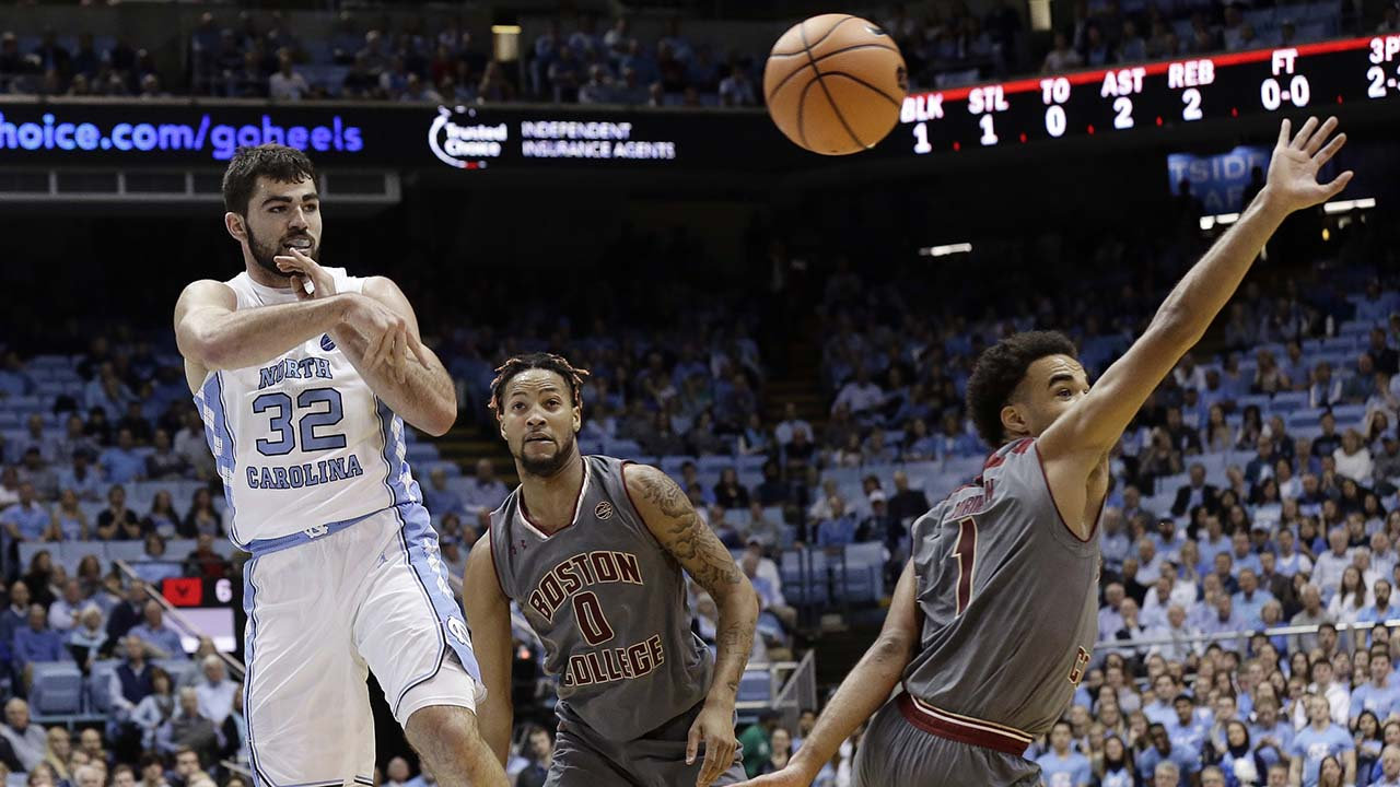 UNC's Luke Maye had a dominant game to propel the Tar Heels past Boston College on Tuesday in Chapel Hill.