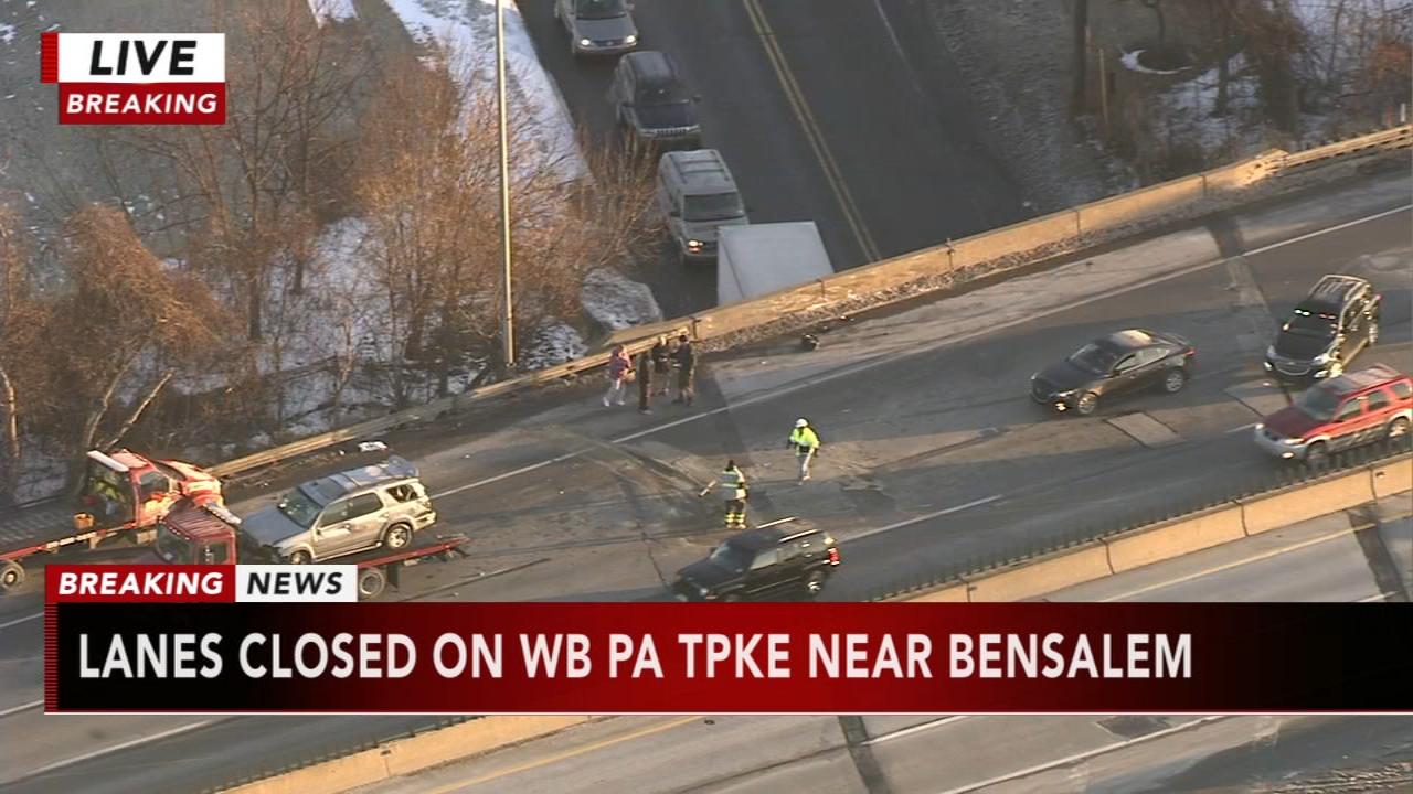 Multi-vehicle crash shuts down WB Pa  Turnpike