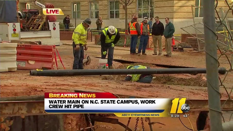 NC State building without water following water main break