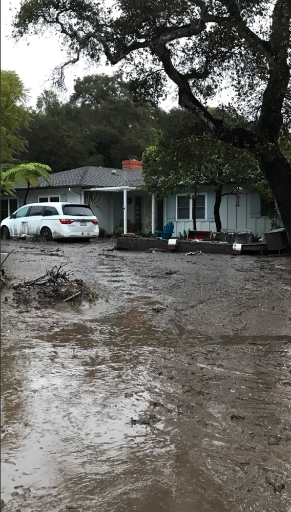"<div class=""meta image-caption""><div class=""origin-logo origin-image none""><span>none</span></div><span class=""caption-text"">Heavy rainfall in areas affected by the Thomas Fire have caused flooding and mudflows in Montecito. (Benjamin Hyatt/Twitter)</span></div>"