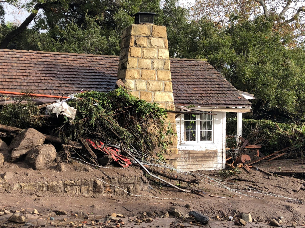 "<div class=""meta image-caption""><div class=""origin-logo origin-image none""><span>none</span></div><span class=""caption-text"">""Damage to guest cottages at the storied San Ysidro Ranch in Montecito due to deadly mudflow from overnight heavy rain."" (Santa Barbara County Fire)</span></div>"