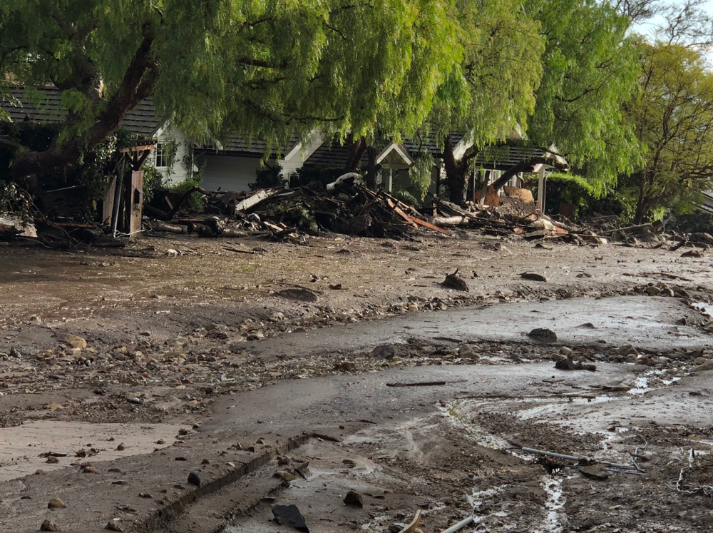 <div class='meta'><div class='origin-logo' data-origin='none'></div><span class='caption-text' data-credit='Santa Barbara County Fire'>&#34;Damage to guest cottages at the storied San Ysidro Ranch in Montecito due to deadly mudflow from overnight heavy rain.&#34;</span></div>