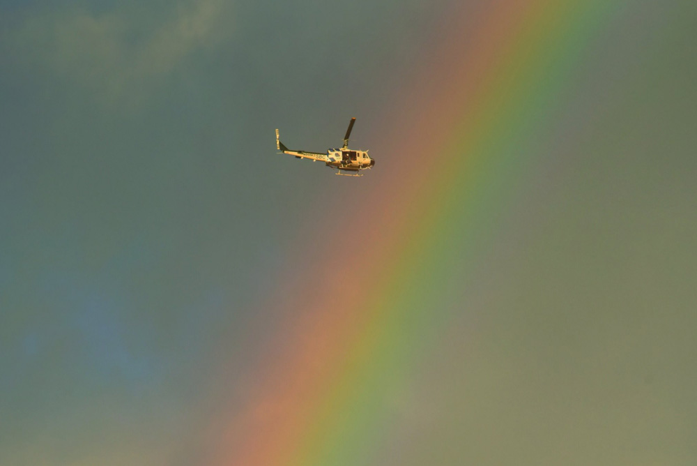 <div class='meta'><div class='origin-logo' data-origin='none'></div><span class='caption-text' data-credit='Santa Barbara County Fire'>&#34;Santa Barbara County Air Support Unit's Fire Copter 308 flies through a rainbow Tuesday afternoon while on a rescue mission in Montecito.&#34;</span></div>