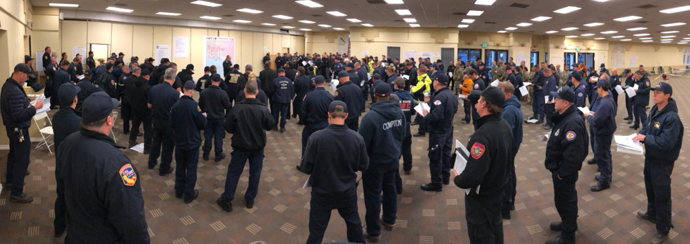 "<div class=""meta image-caption""><div class=""origin-logo origin-image none""><span>none</span></div><span class=""caption-text"">""January Storms- 7 am morning briefing for the FF's, SAR, Law and Military Personnel underway at the Incident Command Post at Earl Warren Showgrounds in Santa Barbara."" (Santa Barbara County Fire)</span></div>"