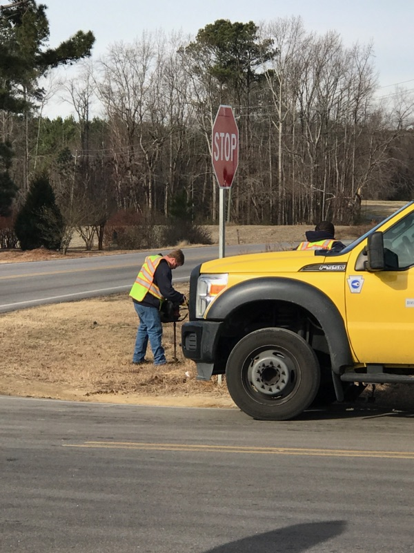 "<div class=""meta image-caption""><div class=""origin-logo origin-image none""><span>none</span></div><span class=""caption-text"">Crews are installing new stop signs, stop ahead warning signs at the intersection of Applewhite Road and Hwy 231. (Credit: Melissa Keon)</span></div>"