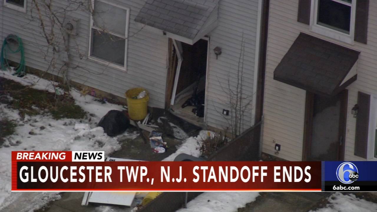 Suspect found dead after 12-hour standoff in Gloucester Twp