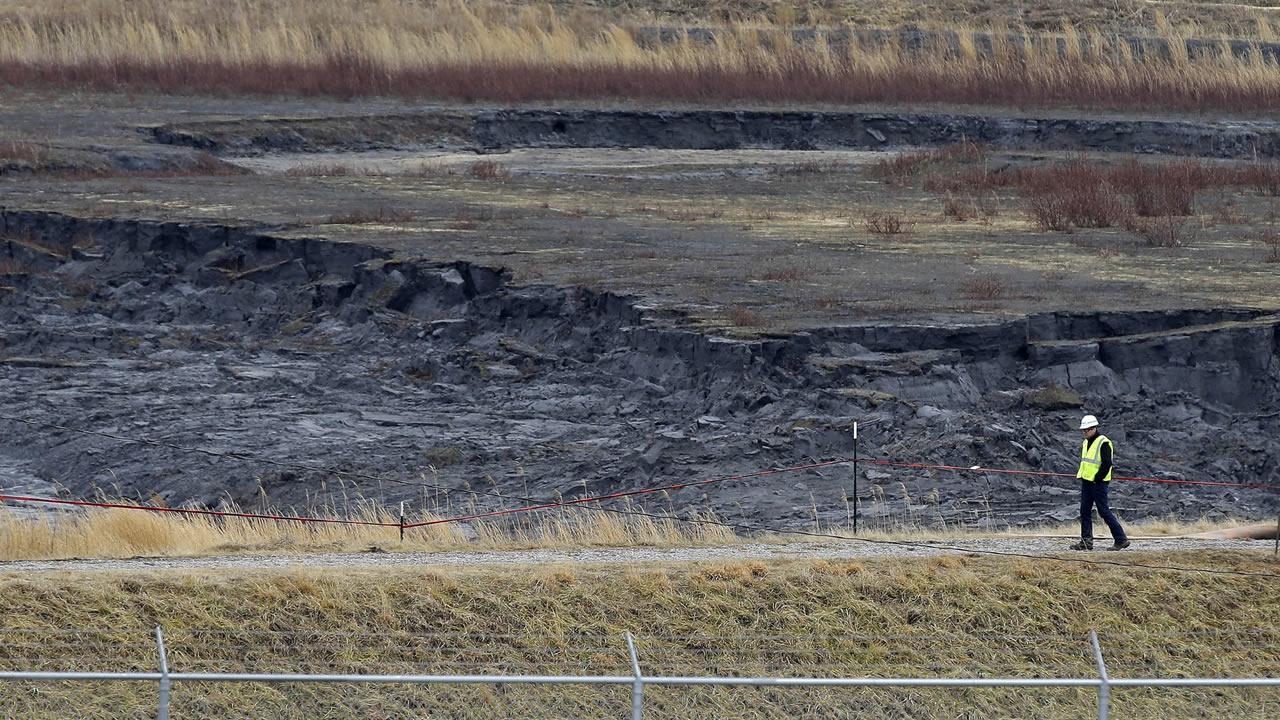 Coal ash pond