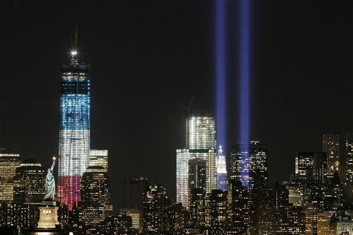 "<div class=""meta image-caption""><div class=""origin-logo origin-image none""><span>none</span></div><span class=""caption-text"">The Tribute in Light shines above the World Trade Center and the Statue of Liberty, left, Monday, Sept. 10, 2012, as seen from Bayonne, N.J. (AP Photo/ Mark Lennihan)</span></div>"