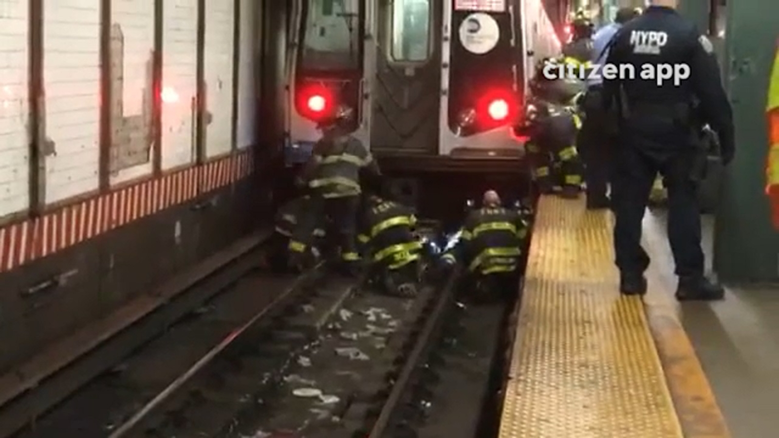 Crews rescue woman who was struck by subway train