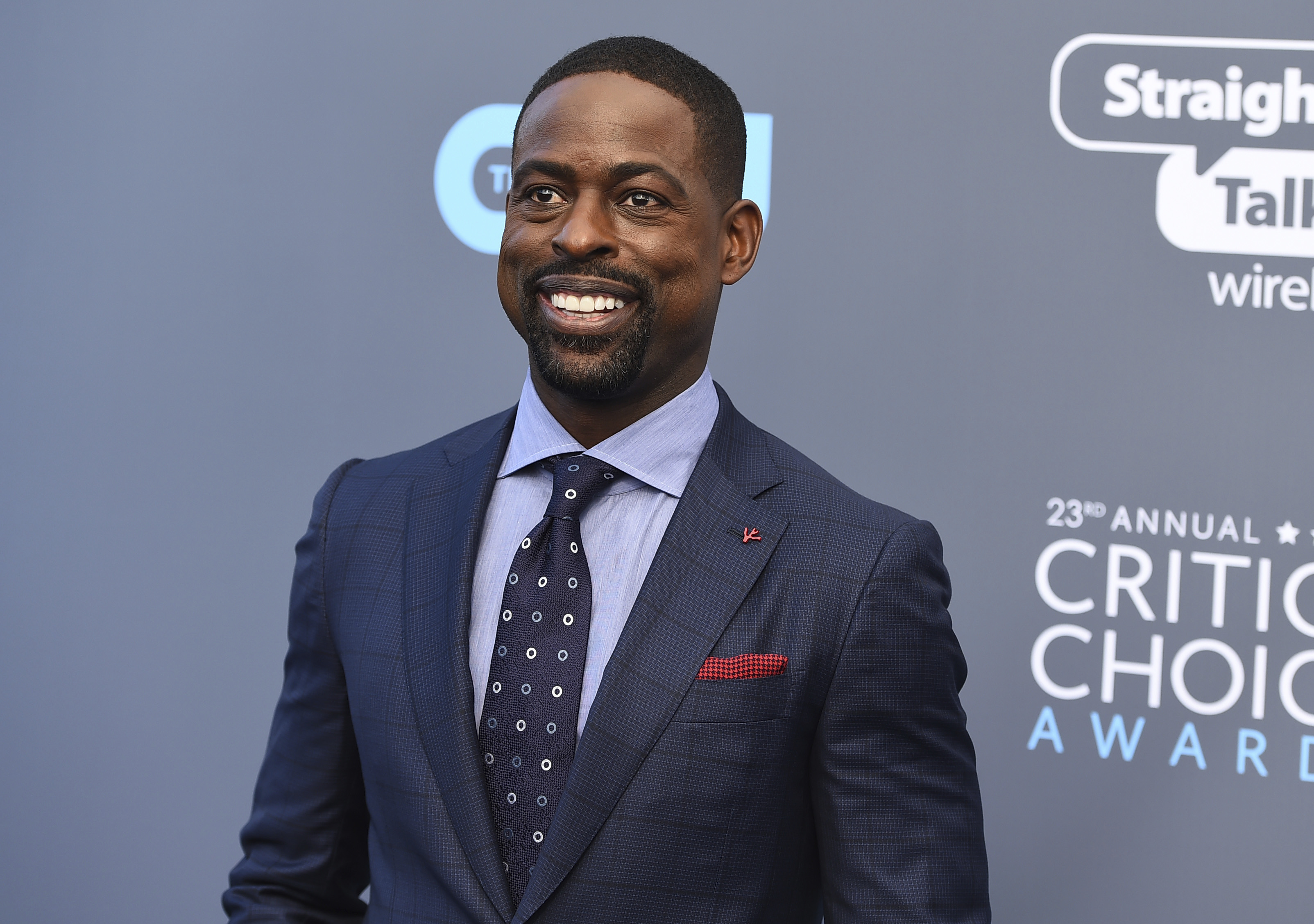 <div class='meta'><div class='origin-logo' data-origin='AP'></div><span class='caption-text' data-credit='Jordan Strauss/Invision/AP'>Sterling K. Brown arrives at the 23rd annual Critics' Choice Awards at the Barker Hangar on Thursday, Jan. 11, 2018, in Santa Monica, Calif.</span></div>