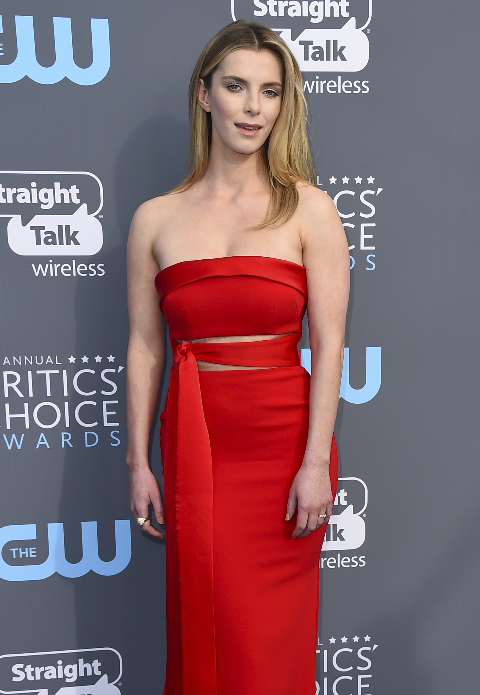 <div class='meta'><div class='origin-logo' data-origin='AP'></div><span class='caption-text' data-credit='Jordan Strauss/Invision/AP'>Betty Gilpin arrives at the 23rd annual Critics' Choice Awards at the Barker Hangar on Thursday, Jan. 11, 2018, in Santa Monica, Calif.</span></div>