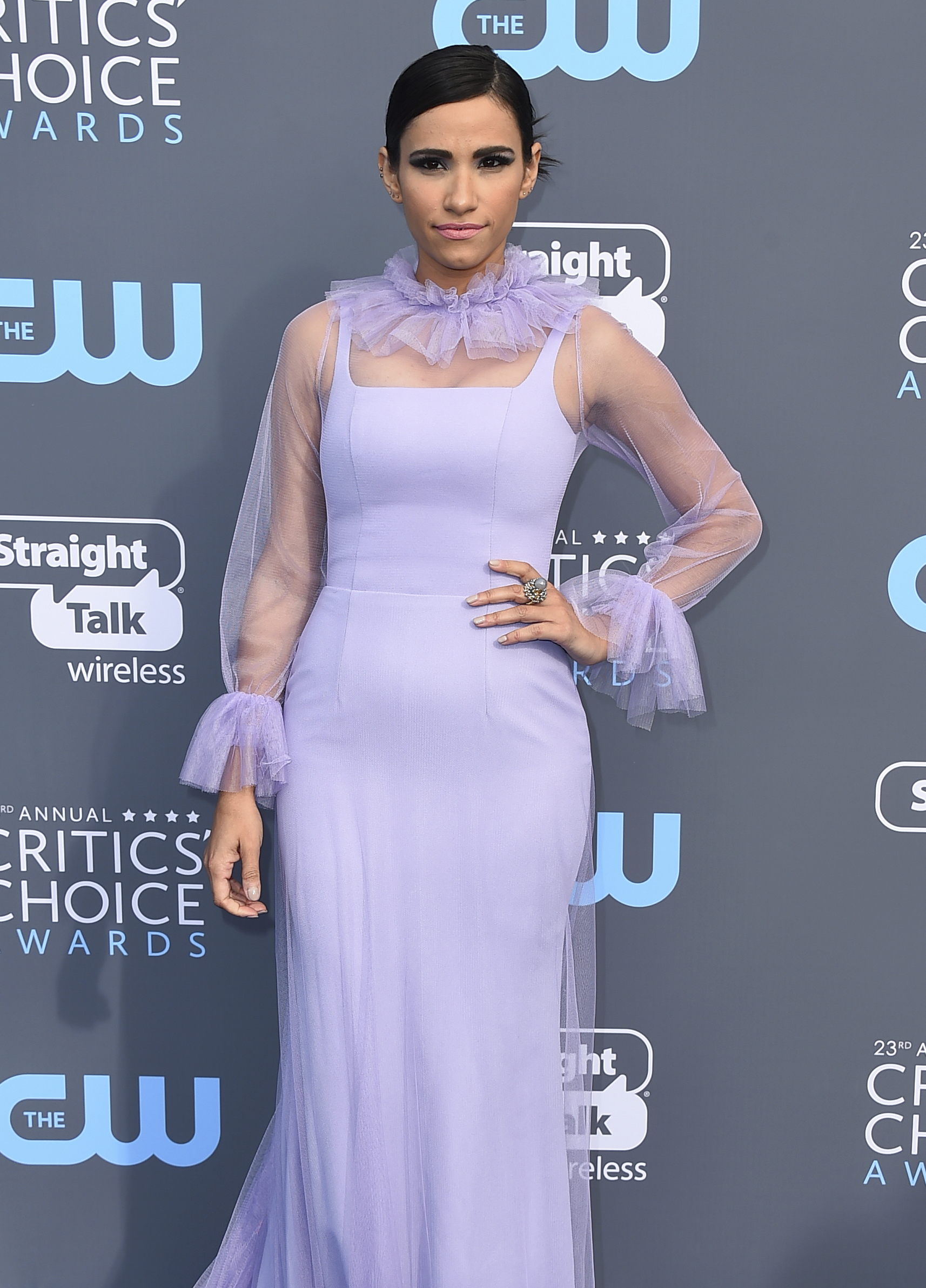 <div class='meta'><div class='origin-logo' data-origin='AP'></div><span class='caption-text' data-credit='Jordan Strauss/Invision/AP'>Tiffany Smith arrives at the 23rd annual Critics' Choice Awards at the Barker Hangar on Thursday, Jan. 11, 2018, in Santa Monica, Calif.</span></div>