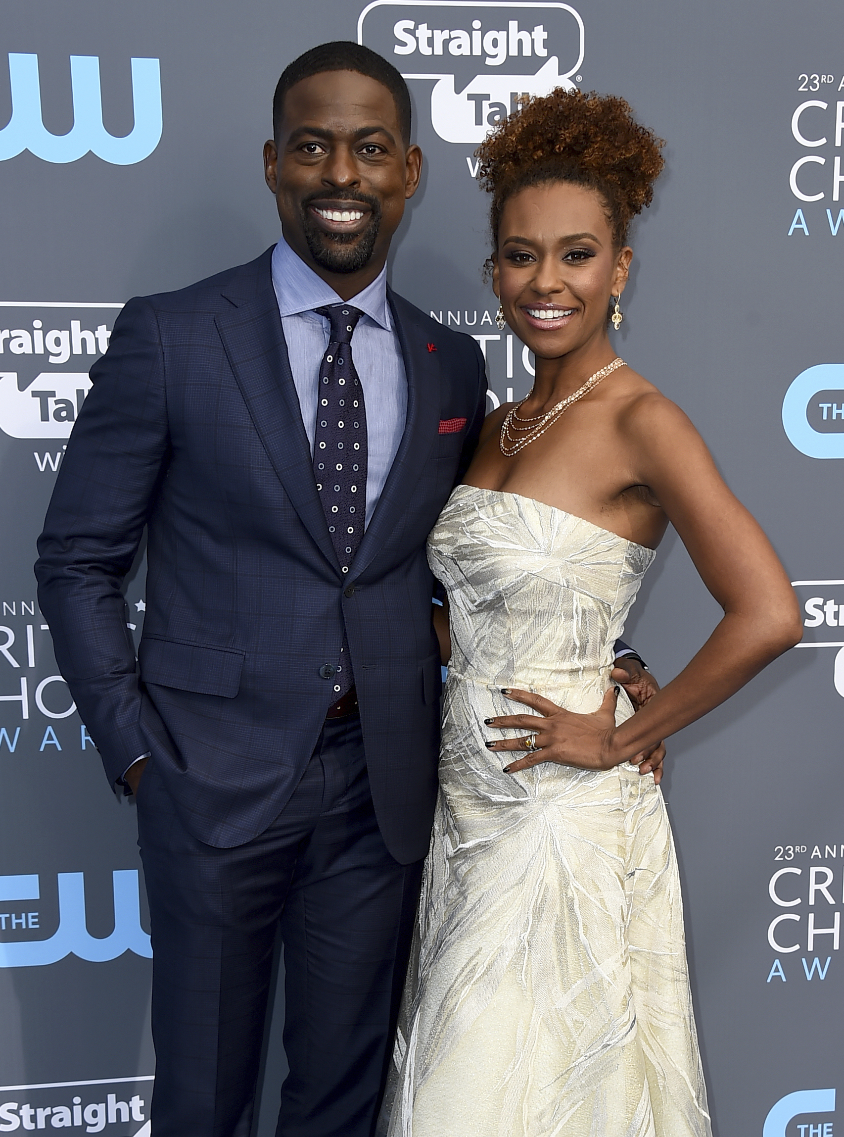 <div class='meta'><div class='origin-logo' data-origin='AP'></div><span class='caption-text' data-credit='Jordan Strauss/Invision/AP'>Sterling K. Brown, left, and Ryan Michelle Bathe arrive at the 23rd annual Critics' Choice Awards at the Barker Hangar on Thursday, Jan. 11, 2018, in Santa Monica, Calif.</span></div>