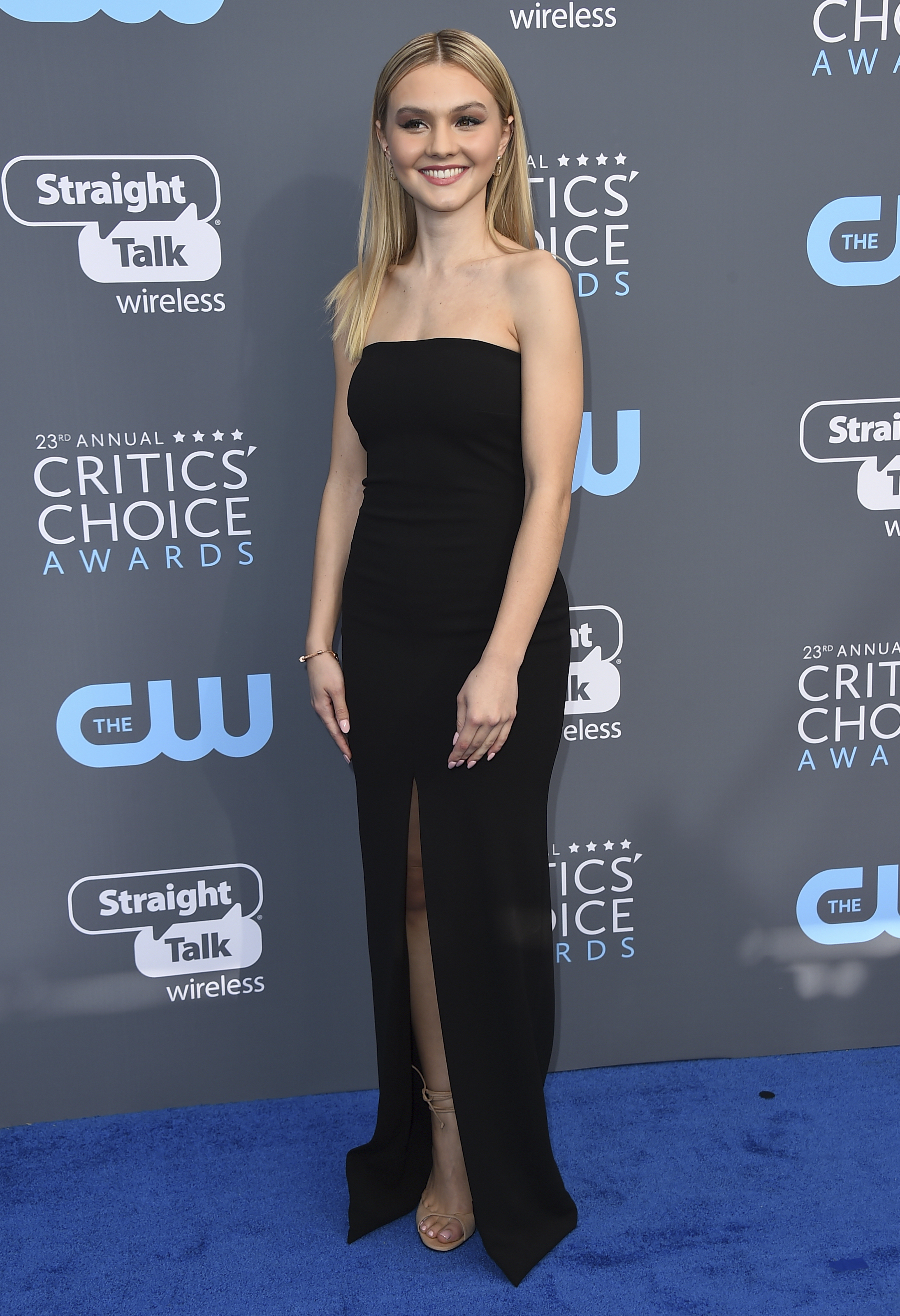 <div class='meta'><div class='origin-logo' data-origin='AP'></div><span class='caption-text' data-credit='Jordan Strauss/Invision/AP'>Alana Boden arrives at the 23rd annual Critics' Choice Awards at the Barker Hangar on Thursday, Jan. 11, 2018, in Santa Monica, Calif.</span></div>