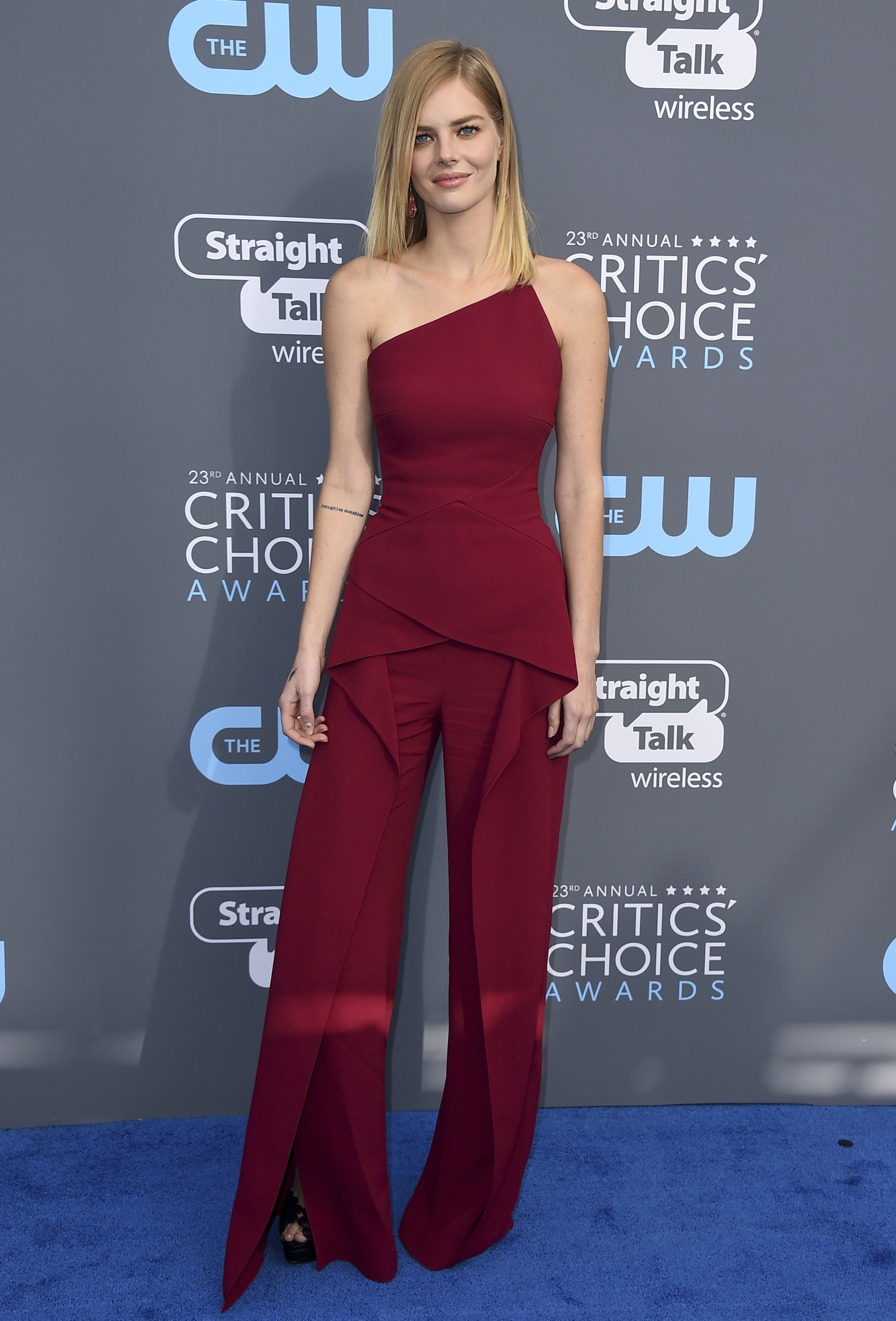 <div class='meta'><div class='origin-logo' data-origin='AP'></div><span class='caption-text' data-credit='Jordan Strauss/Invision/AP'>Samara Weaving arrives at the 23rd annual Critics' Choice Awards at the Barker Hangar on Thursday, Jan. 11, 2018, in Santa Monica, Calif.</span></div>