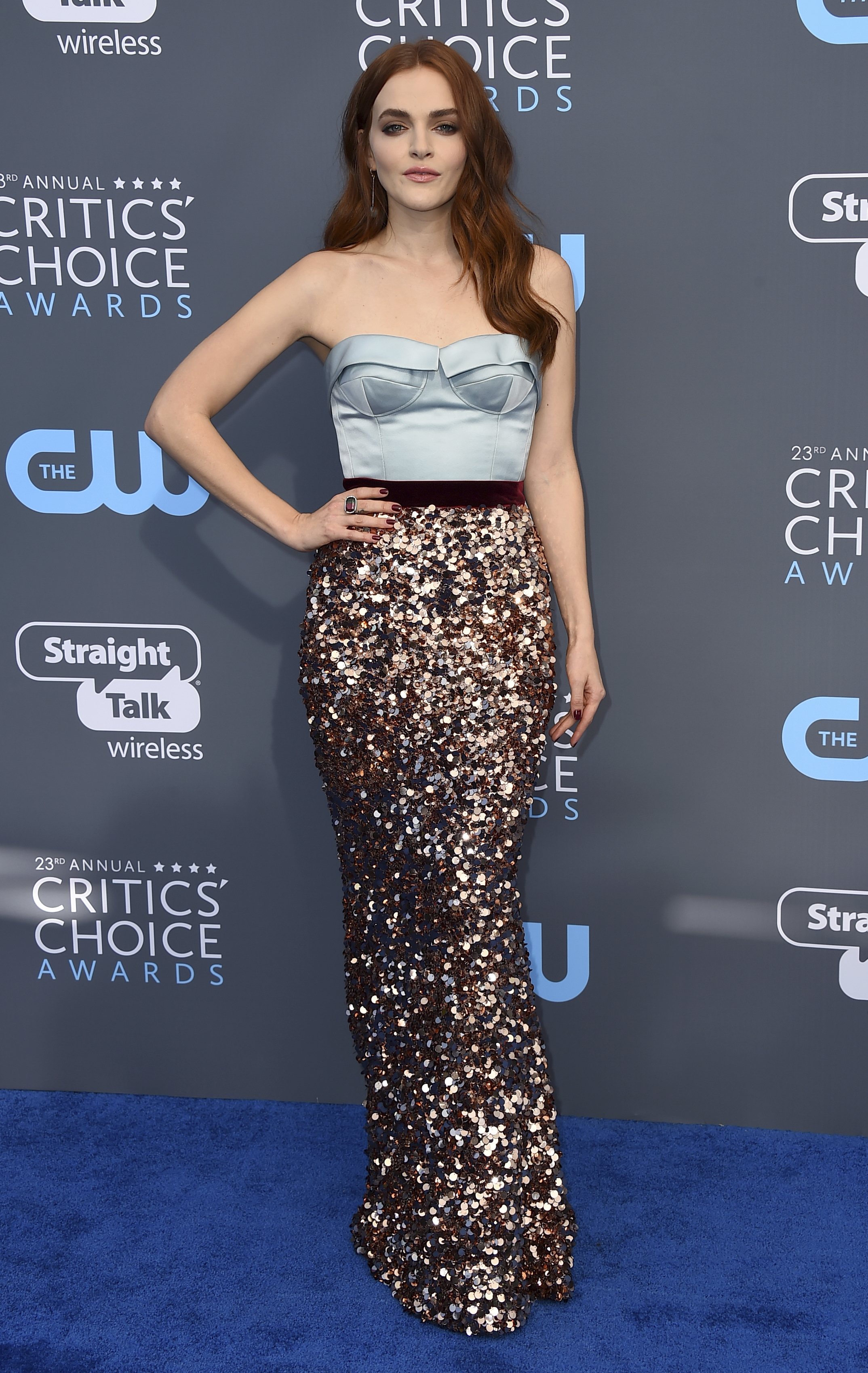 <div class='meta'><div class='origin-logo' data-origin='AP'></div><span class='caption-text' data-credit='Jordan Strauss/Invision/AP'>Madeline Brewer arrives at the 23rd annual Critics' Choice Awards at the Barker Hangar on Thursday, Jan. 11, 2018, in Santa Monica, Calif.</span></div>