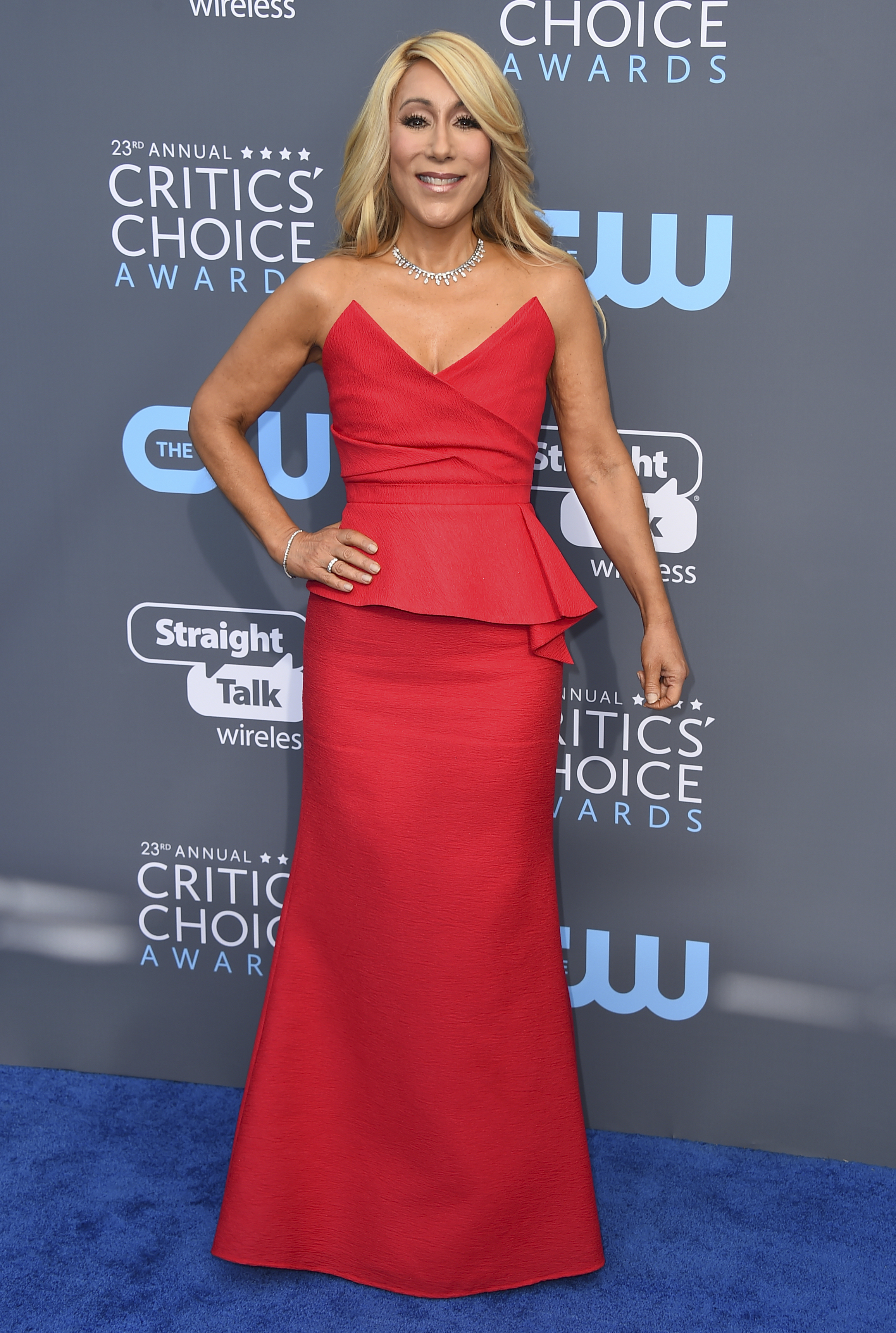 <div class='meta'><div class='origin-logo' data-origin='AP'></div><span class='caption-text' data-credit='Jordan Strauss/Invision/AP'>Lori Greiner arrives at the 23rd annual Critics' Choice Awards at the Barker Hangar on Thursday, Jan. 11, 2018, in Santa Monica, Calif.</span></div>