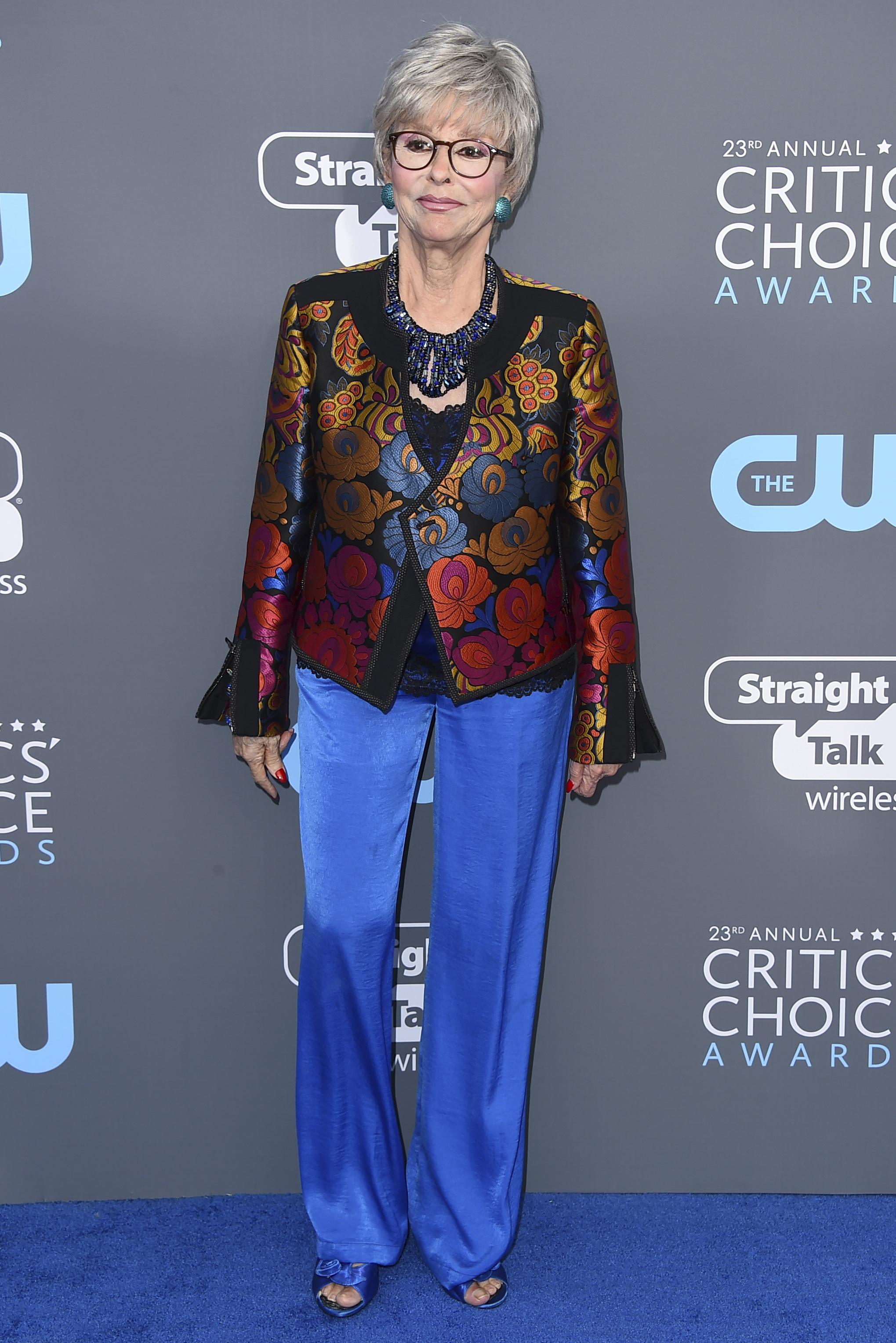 <div class='meta'><div class='origin-logo' data-origin='AP'></div><span class='caption-text' data-credit='Jordan Strauss/Invision/AP'>Rita Moreno arrives at the 23rd annual Critics' Choice Awards at the Barker Hangar on Thursday, Jan. 11, 2018, in Santa Monica, Calif.</span></div>