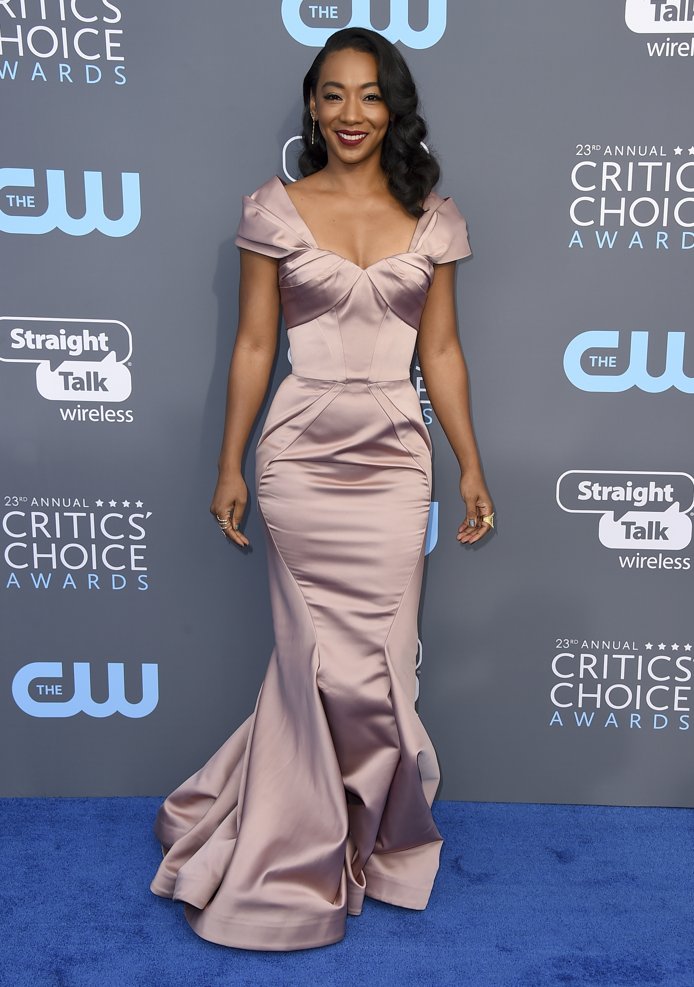 <div class='meta'><div class='origin-logo' data-origin='AP'></div><span class='caption-text' data-credit='Jordan Strauss/Invision/AP'>Betty Gabriel arrives at the 23rd annual Critics' Choice Awards at the Barker Hangar on Thursday, Jan. 11, 2018, in Santa Monica, Calif.</span></div>