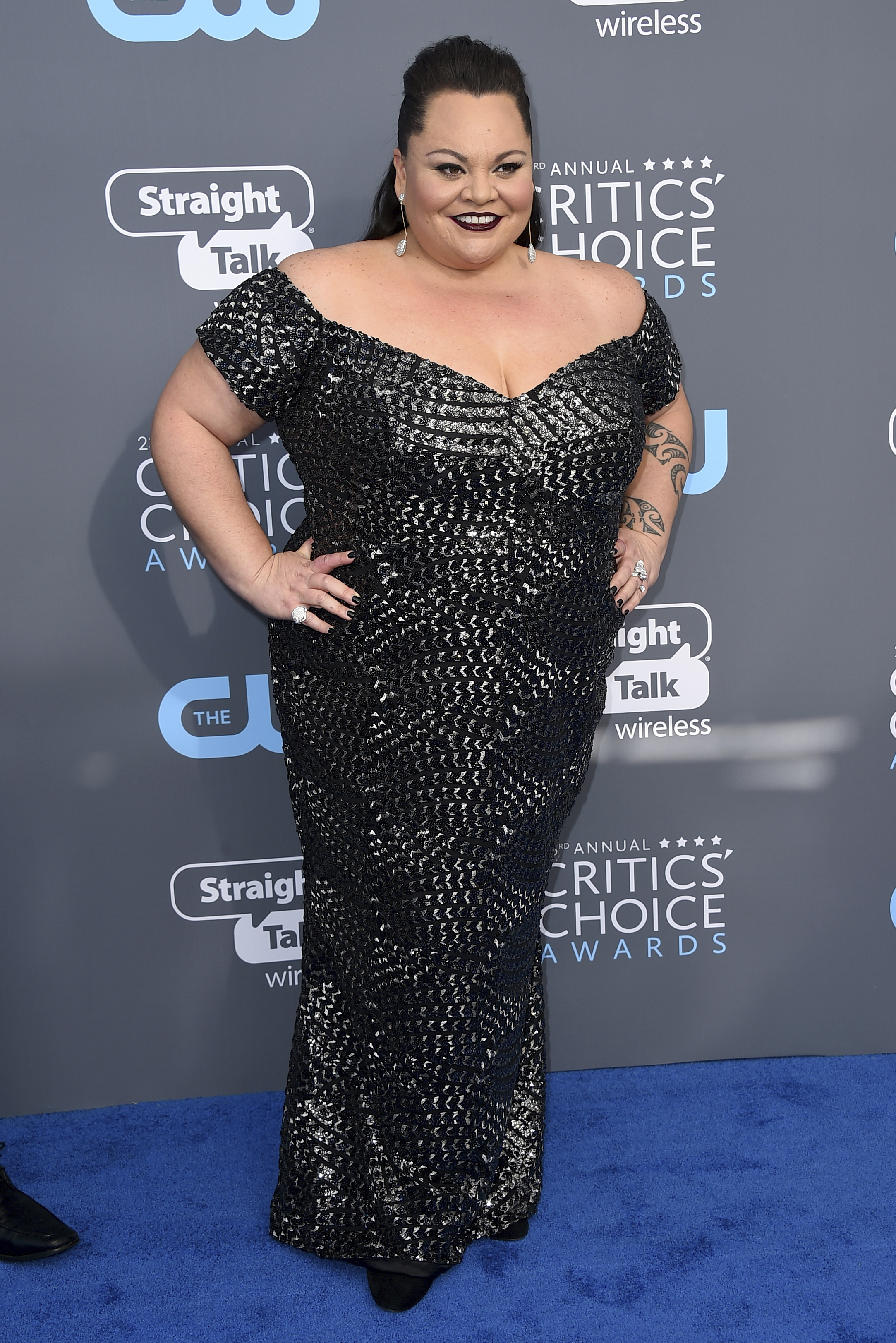 <div class='meta'><div class='origin-logo' data-origin='AP'></div><span class='caption-text' data-credit='Jordan Strauss/Invision/AP'>Keala Settle arrives at the 23rd annual Critics' Choice Awards at the Barker Hangar on Thursday, Jan. 11, 2018, in Santa Monica, Calif.</span></div>