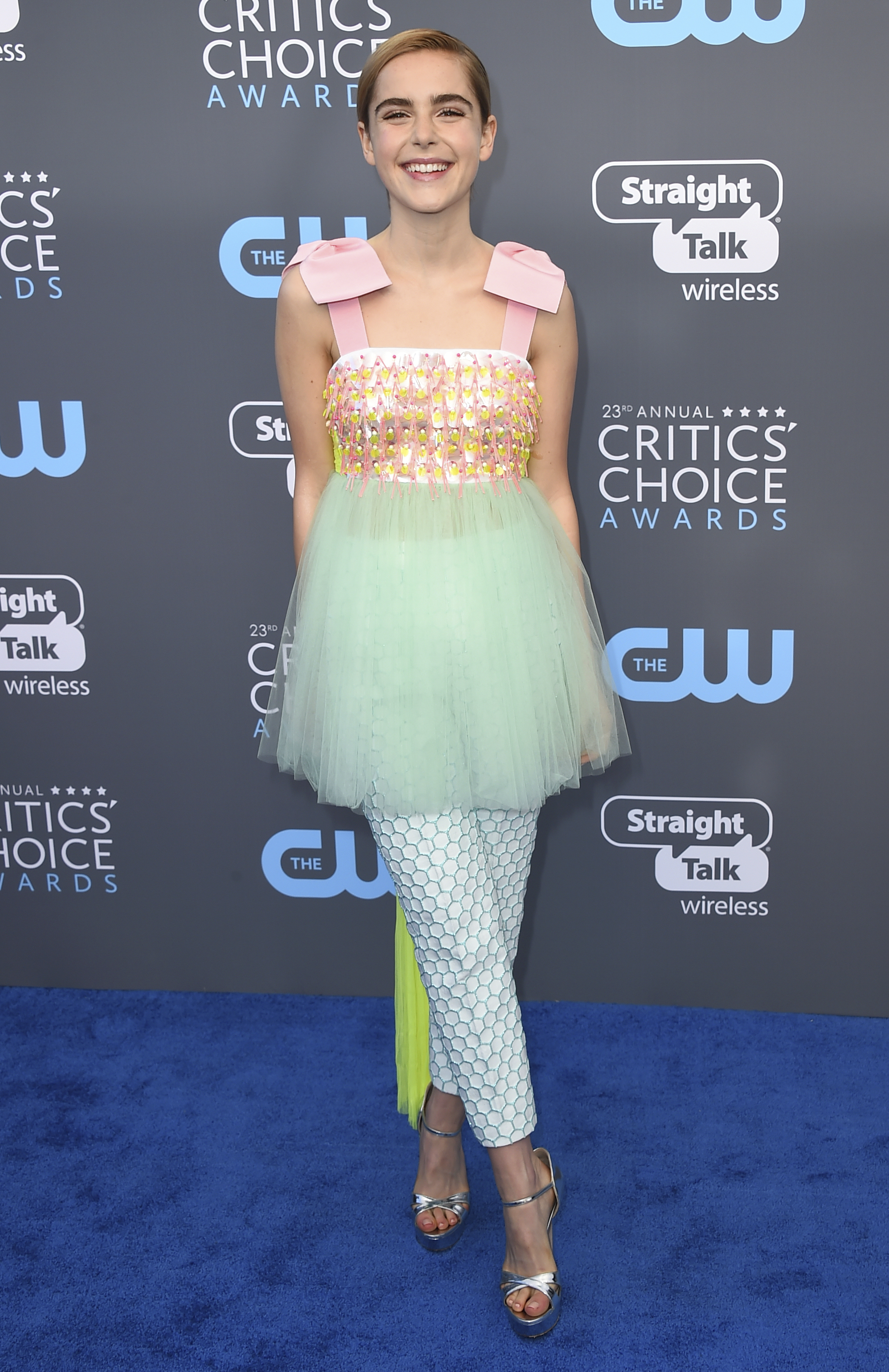 <div class='meta'><div class='origin-logo' data-origin='AP'></div><span class='caption-text' data-credit='Jordan Strauss/Invision/AP'>Kiernan Shipka arrives at the 23rd annual Critics' Choice Awards at the Barker Hangar on Thursday, Jan. 11, 2018, in Santa Monica, Calif.</span></div>