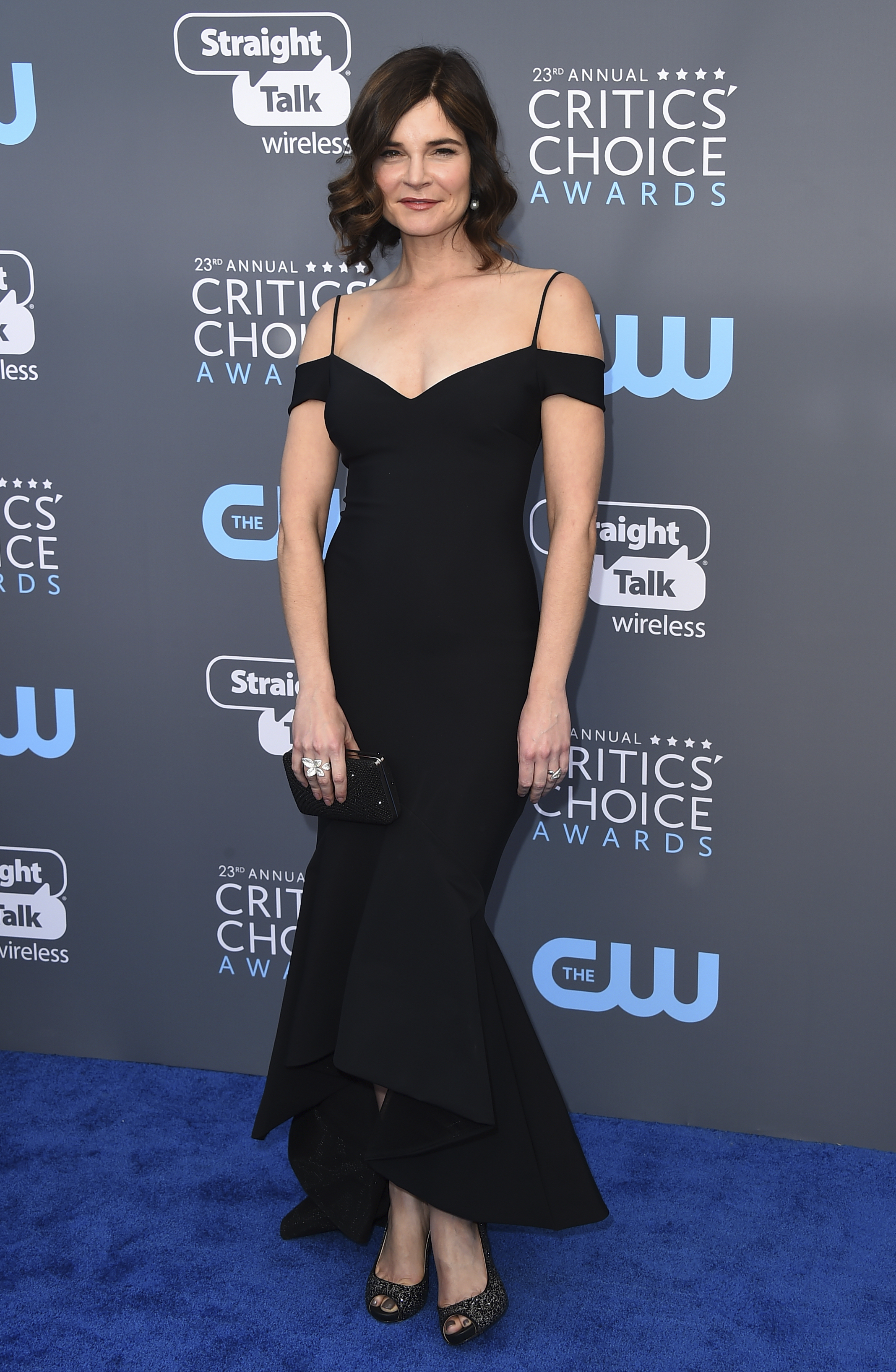 <div class='meta'><div class='origin-logo' data-origin='AP'></div><span class='caption-text' data-credit='Jordan Strauss/Invision/AP'>Betsy Brandt arrives at the 23rd annual Critics' Choice Awards at the Barker Hangar on Thursday, Jan. 11, 2018, in Santa Monica, Calif.</span></div>