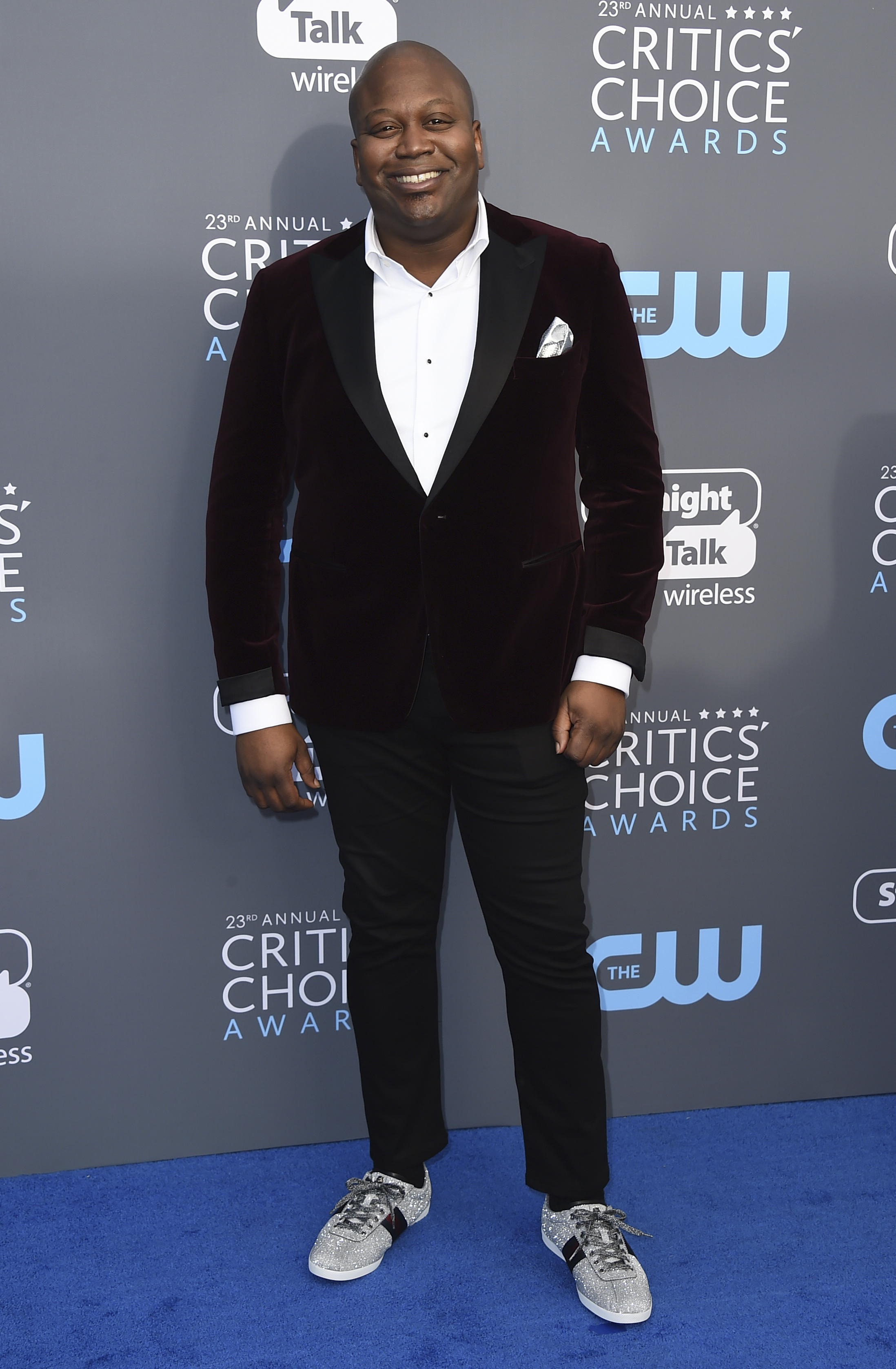 <div class='meta'><div class='origin-logo' data-origin='AP'></div><span class='caption-text' data-credit='Jordan Strauss/Invision/AP'>Tituss Burgess arrives at the 23rd annual Critics' Choice Awards at the Barker Hangar on Thursday, Jan. 11, 2018, in Santa Monica, Calif.</span></div>