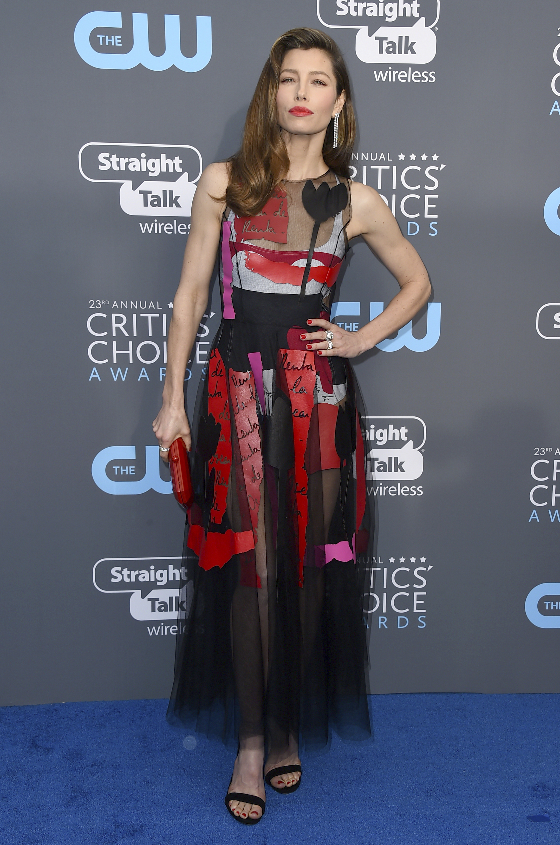 <div class='meta'><div class='origin-logo' data-origin='AP'></div><span class='caption-text' data-credit='Jordan Strauss/Invision/AP'>Jessica Biel arrives at the 23rd annual Critics' Choice Awards at the Barker Hangar on Thursday, Jan. 11, 2018, in Santa Monica, Calif.</span></div>