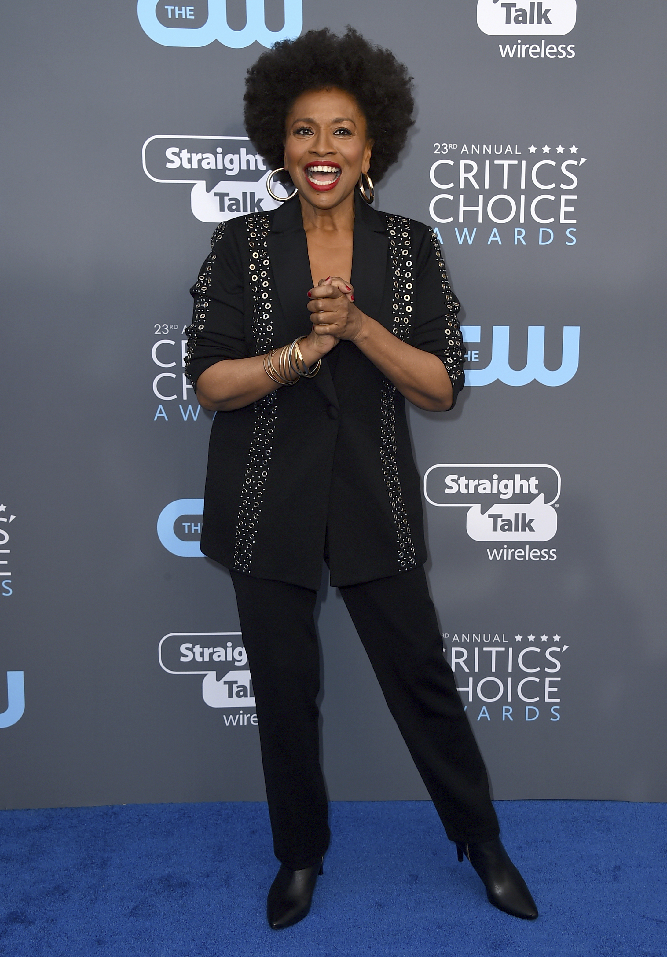 <div class='meta'><div class='origin-logo' data-origin='AP'></div><span class='caption-text' data-credit='Jordan Strauss/Invision/AP'>Jenifer Lewis arrives at the 23rd annual Critics' Choice Awards at the Barker Hangar on Thursday, Jan. 11, 2018, in Santa Monica, Calif.</span></div>