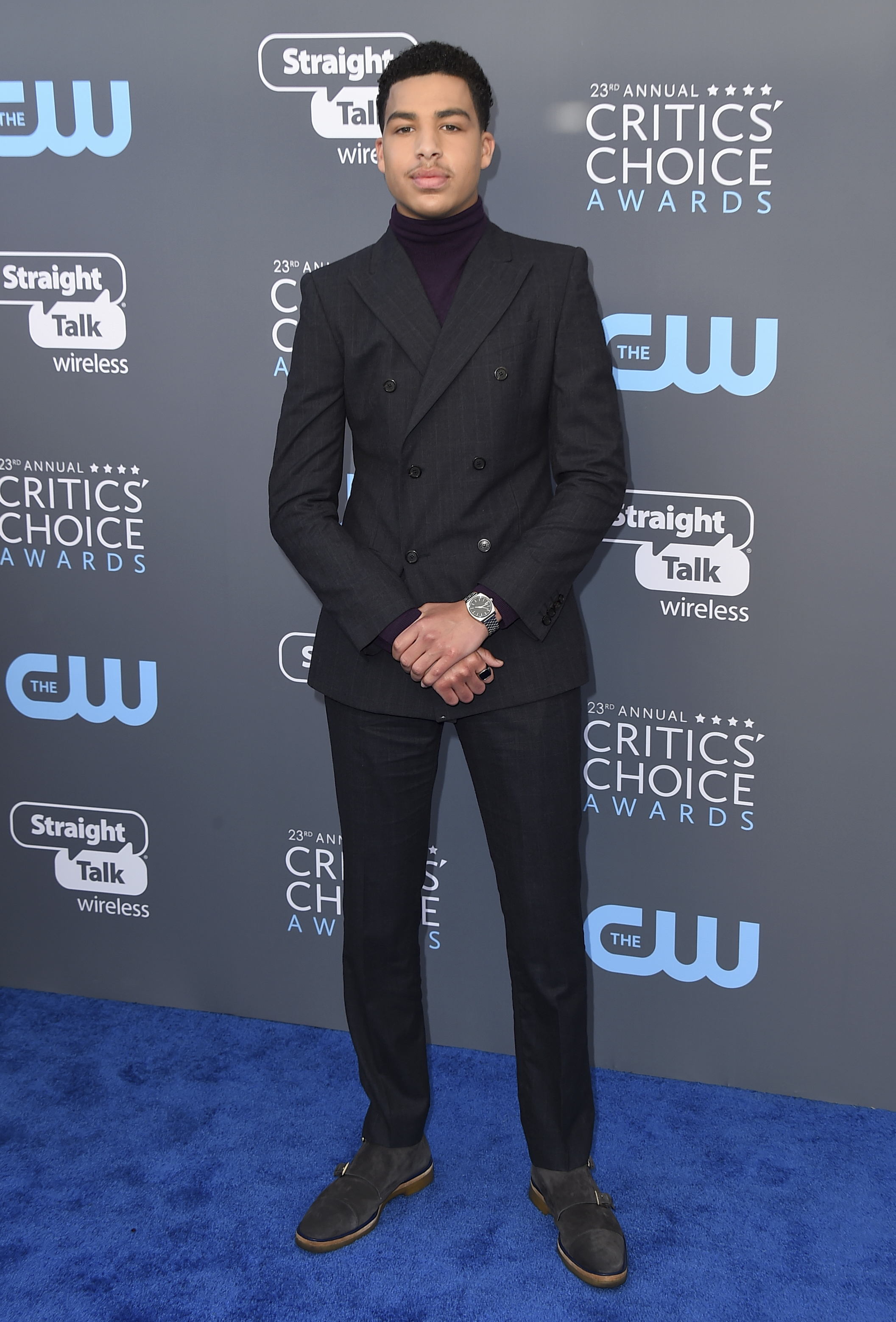 <div class='meta'><div class='origin-logo' data-origin='AP'></div><span class='caption-text' data-credit='Jordan Strauss/Invision/AP'>Marcus Scribner arrives at the 23rd annual Critics' Choice Awards at the Barker Hangar on Thursday, Jan. 11, 2018, in Santa Monica, Calif.</span></div>