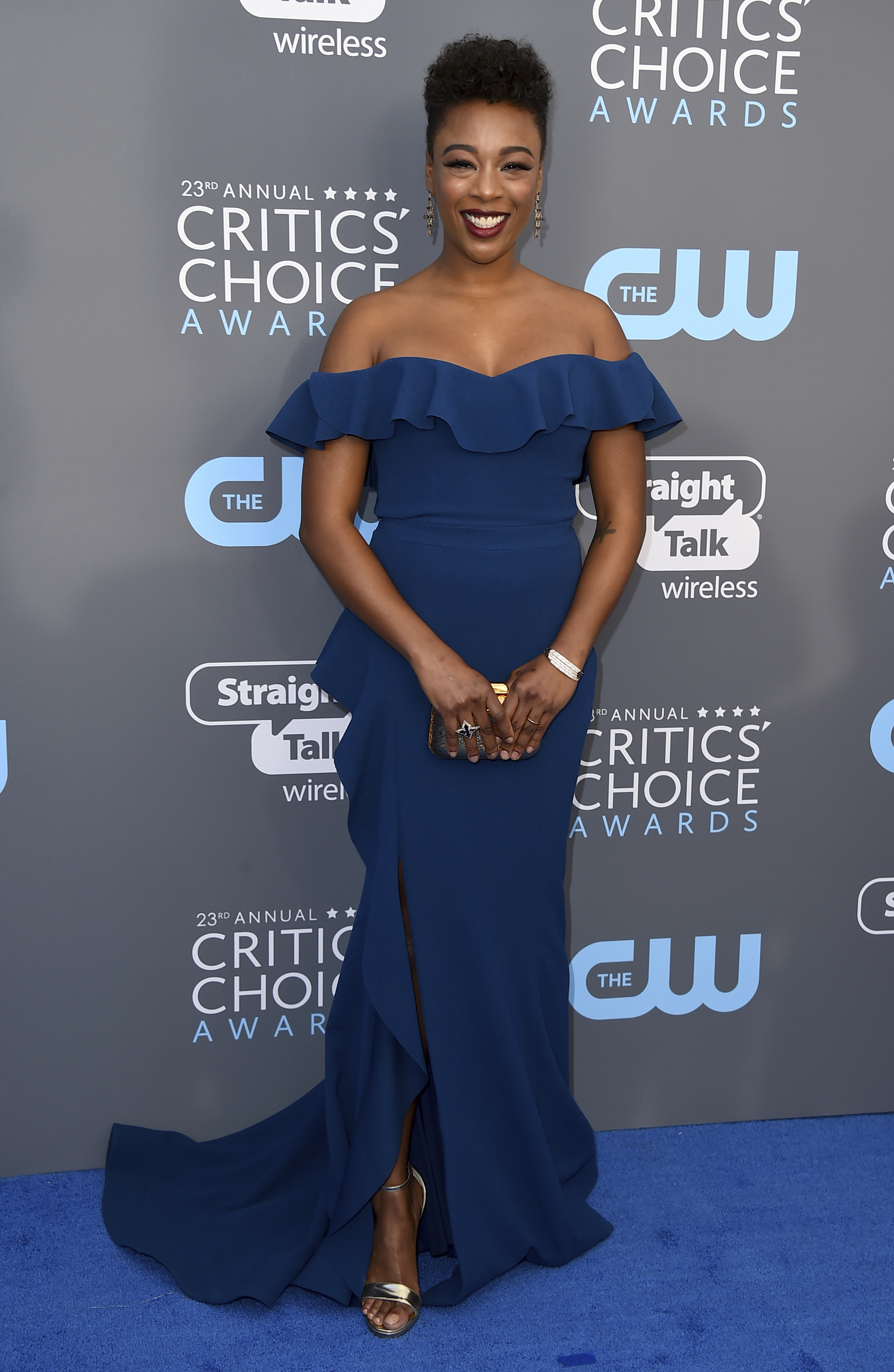 <div class='meta'><div class='origin-logo' data-origin='AP'></div><span class='caption-text' data-credit='Jordan Strauss/Invision/AP'>Samira Wiley arrives at the 23rd annual Critics' Choice Awards at the Barker Hangar on Thursday, Jan. 11, 2018, in Santa Monica, Calif.</span></div>
