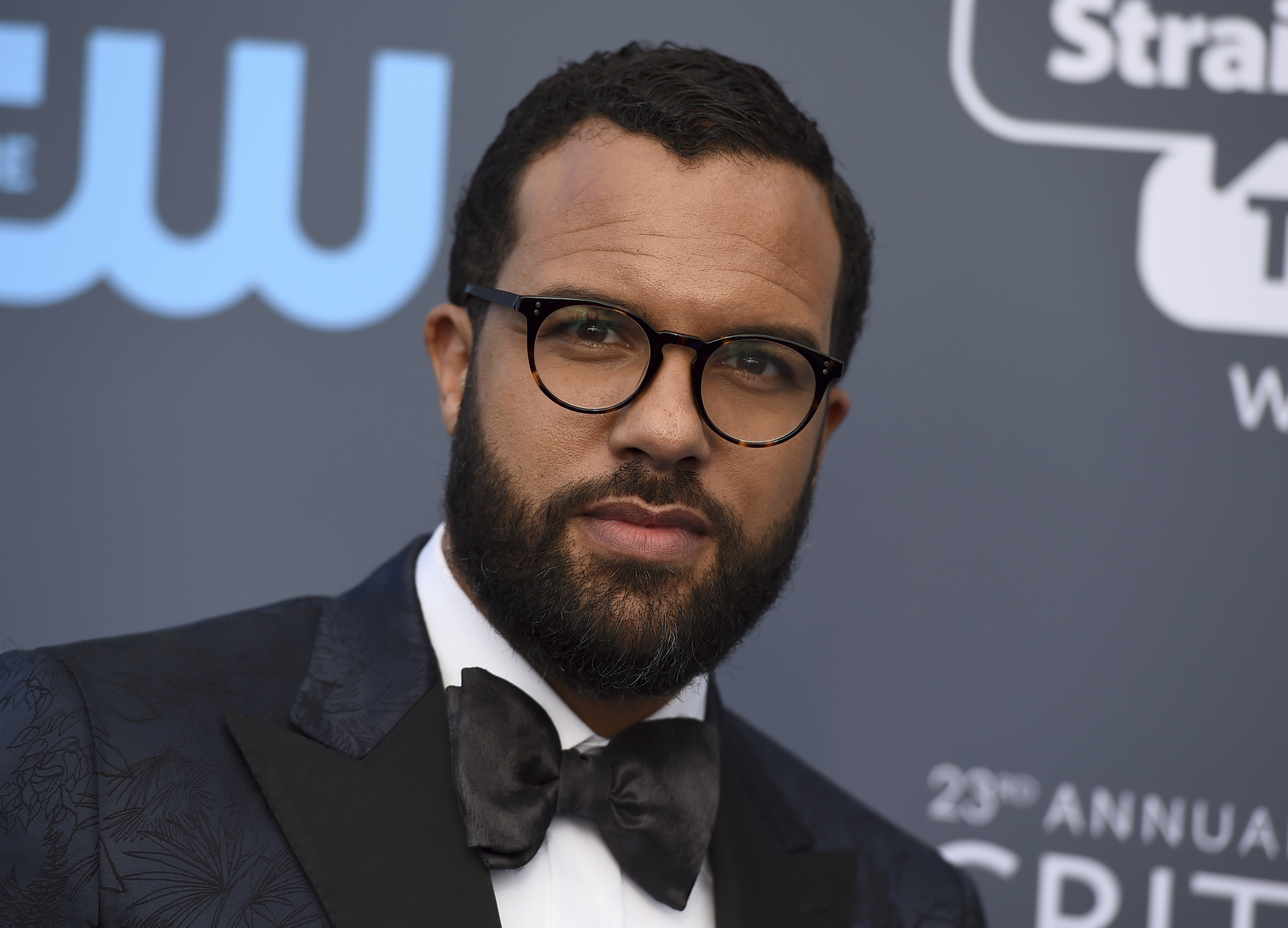 <div class='meta'><div class='origin-logo' data-origin='AP'></div><span class='caption-text' data-credit='Jordan Strauss/Invision/AP'>O-T Fagbenle arrives at the 23rd annual Critics' Choice Awards at the Barker Hangar on Thursday, Jan. 11, 2018, in Santa Monica, Calif.</span></div>