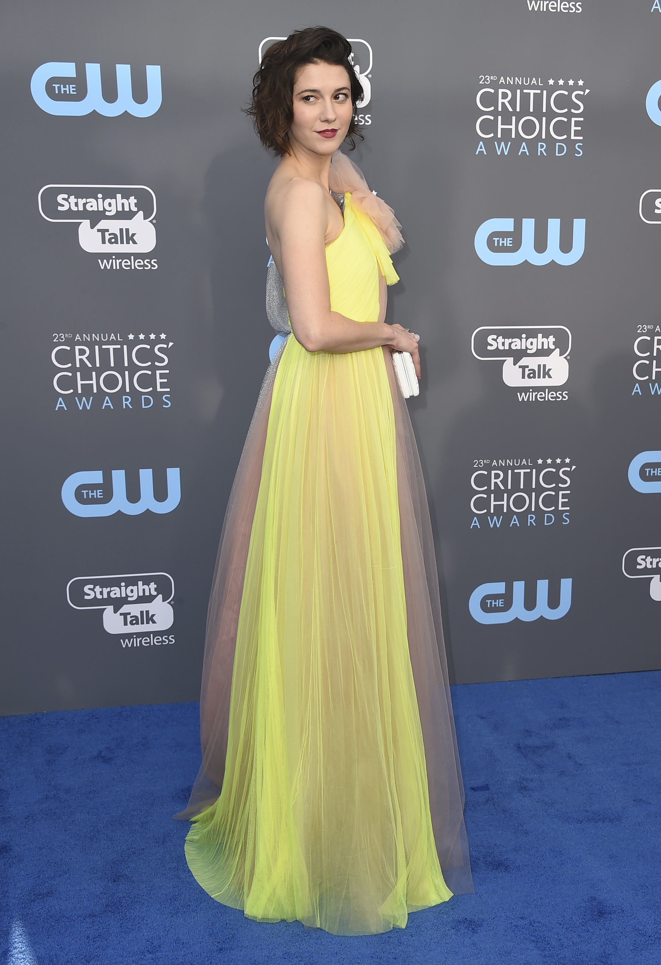 <div class='meta'><div class='origin-logo' data-origin='AP'></div><span class='caption-text' data-credit='Jordan Strauss/Invision/AP'>Mary Elizabeth Winstead arrives at the 23rd annual Critics' Choice Awards at the Barker Hangar on Thursday, Jan. 11, 2018, in Santa Monica, Calif.</span></div>