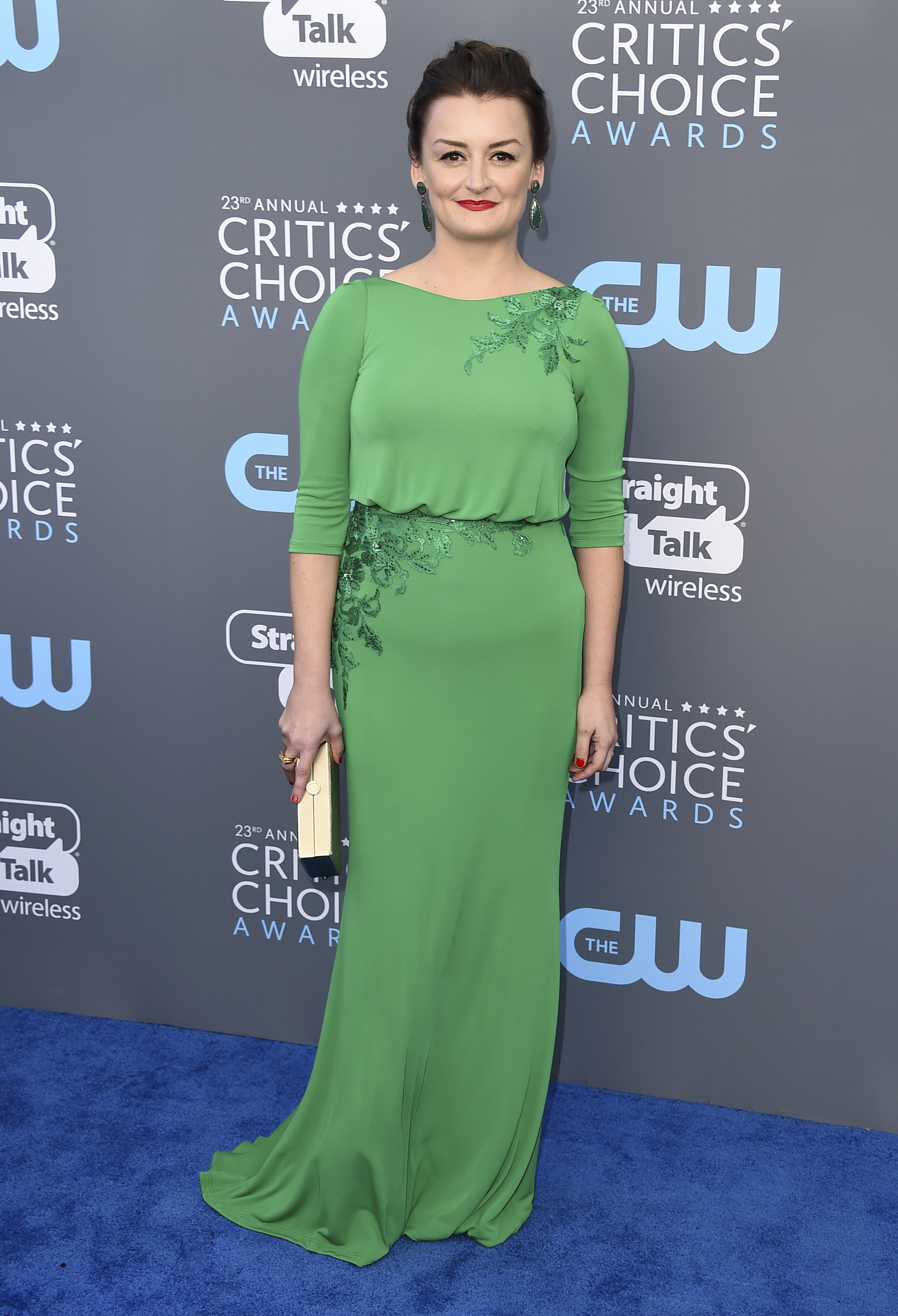 <div class='meta'><div class='origin-logo' data-origin='AP'></div><span class='caption-text' data-credit='Jordan Strauss/Invision/AP'>Alison Wright arrives at the 23rd annual Critics' Choice Awards at the Barker Hangar on Thursday, Jan. 11, 2018, in Santa Monica, Calif.</span></div>