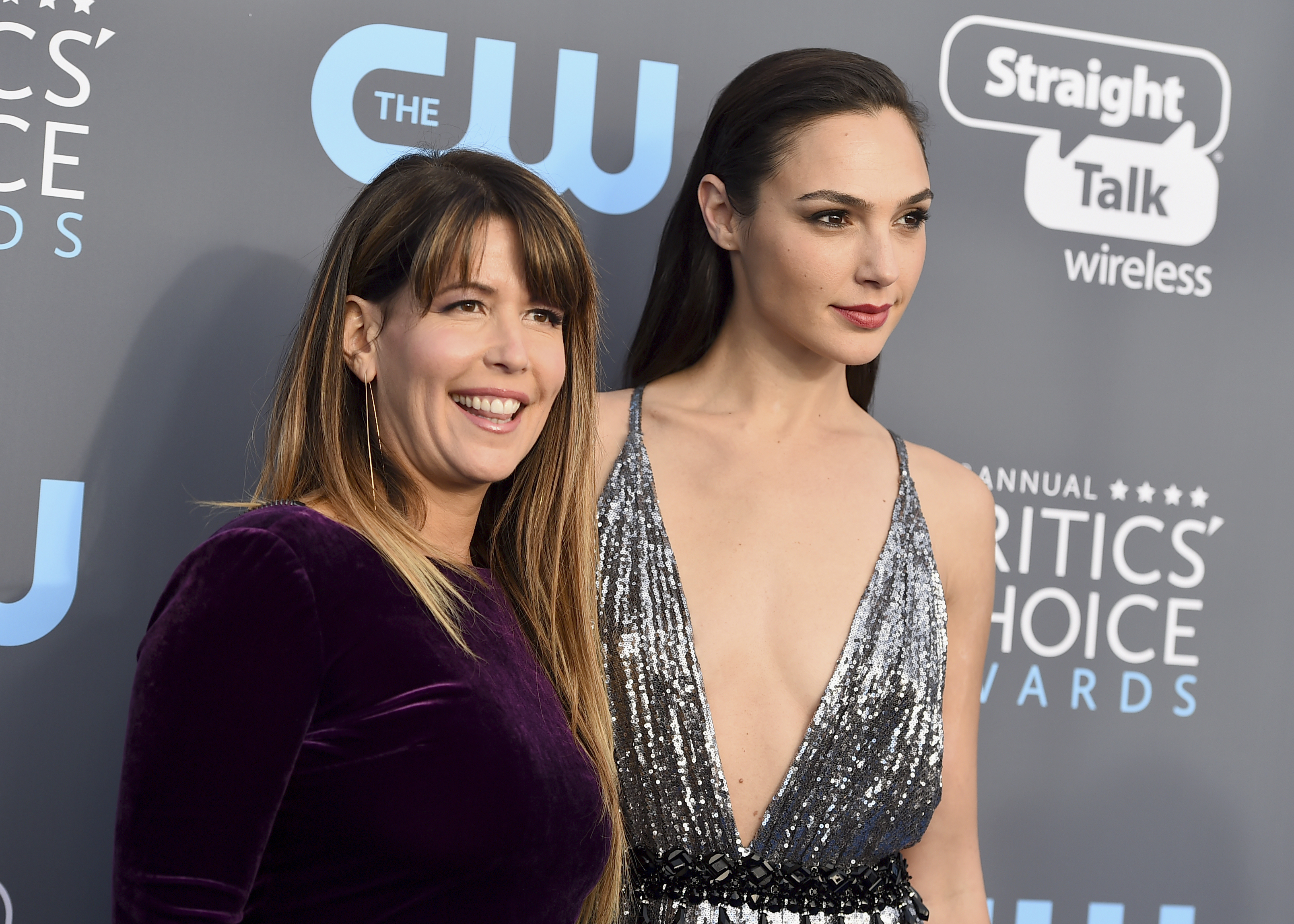 <div class='meta'><div class='origin-logo' data-origin='AP'></div><span class='caption-text' data-credit='Jordan Strauss/Invision/AP'>Patty Jenkins, left, and Gal Gadot arrive at the 23rd annual Critics' Choice Awards at the Barker Hangar on Thursday, Jan. 11, 2018, in Santa Monica, Calif.</span></div>
