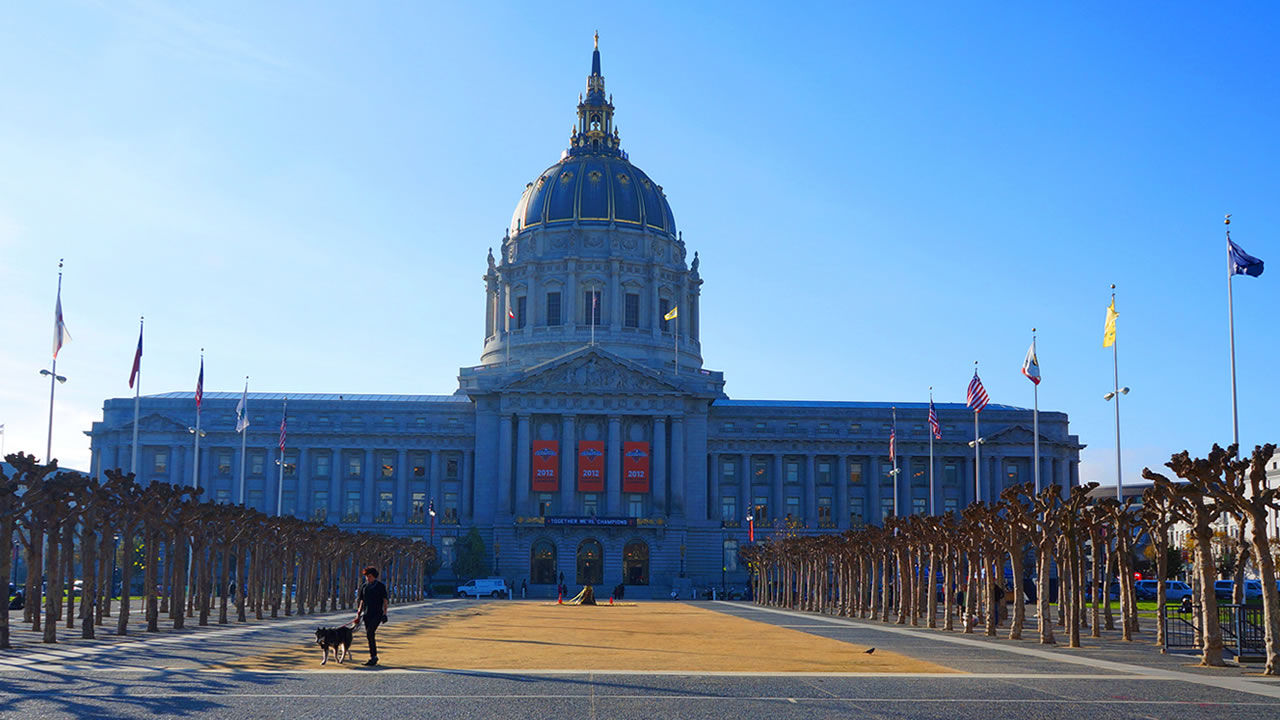 This image from November 2012 shows San Francisco City Hall.