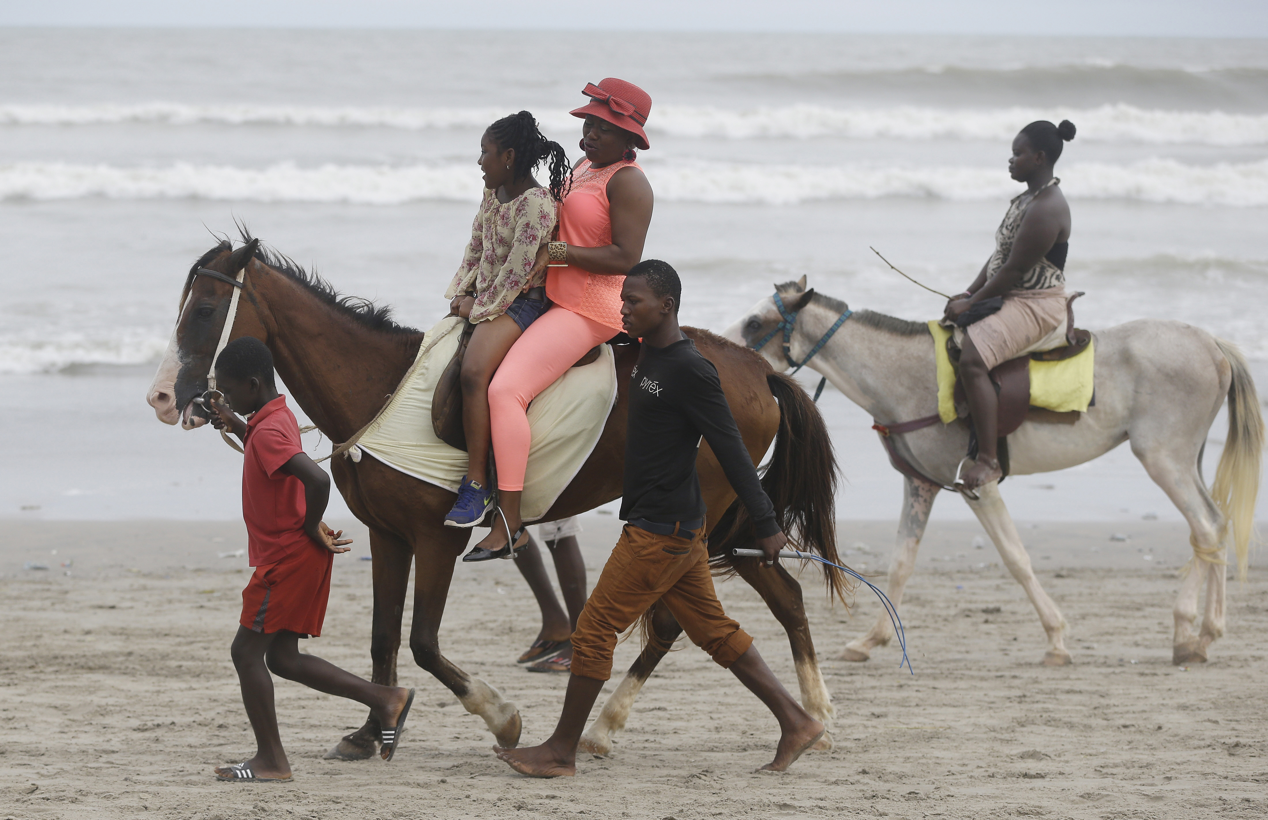 "<div class=""meta image-caption""><div class=""origin-logo origin-image ap""><span>AP</span></div><span class=""caption-text"">Ghanaians ride on horse back on the beach in Accra, Ghana. (AP)</span></div>"