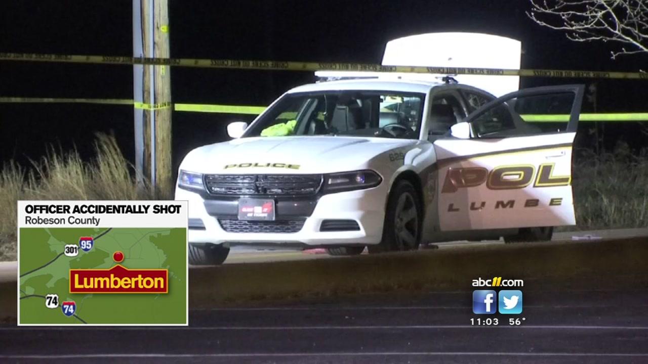 Lumberton Police Officer Shot In U0027accidental Weapon Dischargeu0027 | Abc11.com