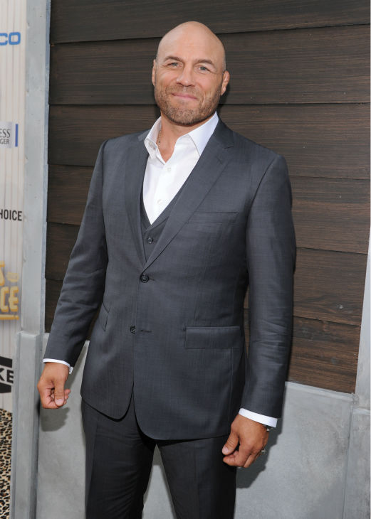 """<div class=""""meta image-caption""""><div class=""""origin-logo origin-image """"><span></span></div><span class=""""caption-text"""">Contestant Randy Couture, actor and former wrestler/mixed martial artist, aka Toll Road from ''The Expendables'' (Photo/Frank Micelotta)</span></div>"""